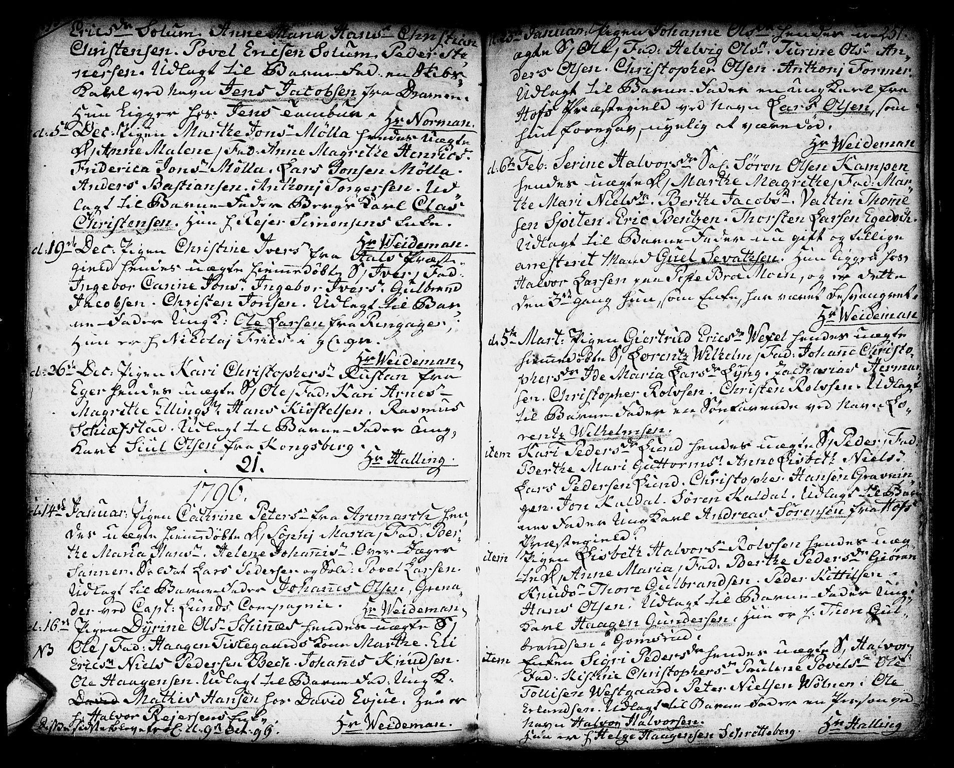 SAKO, Kongsberg kirkebøker, F/Fa/L0006: Ministerialbok nr. I 6, 1783-1797, s. 251