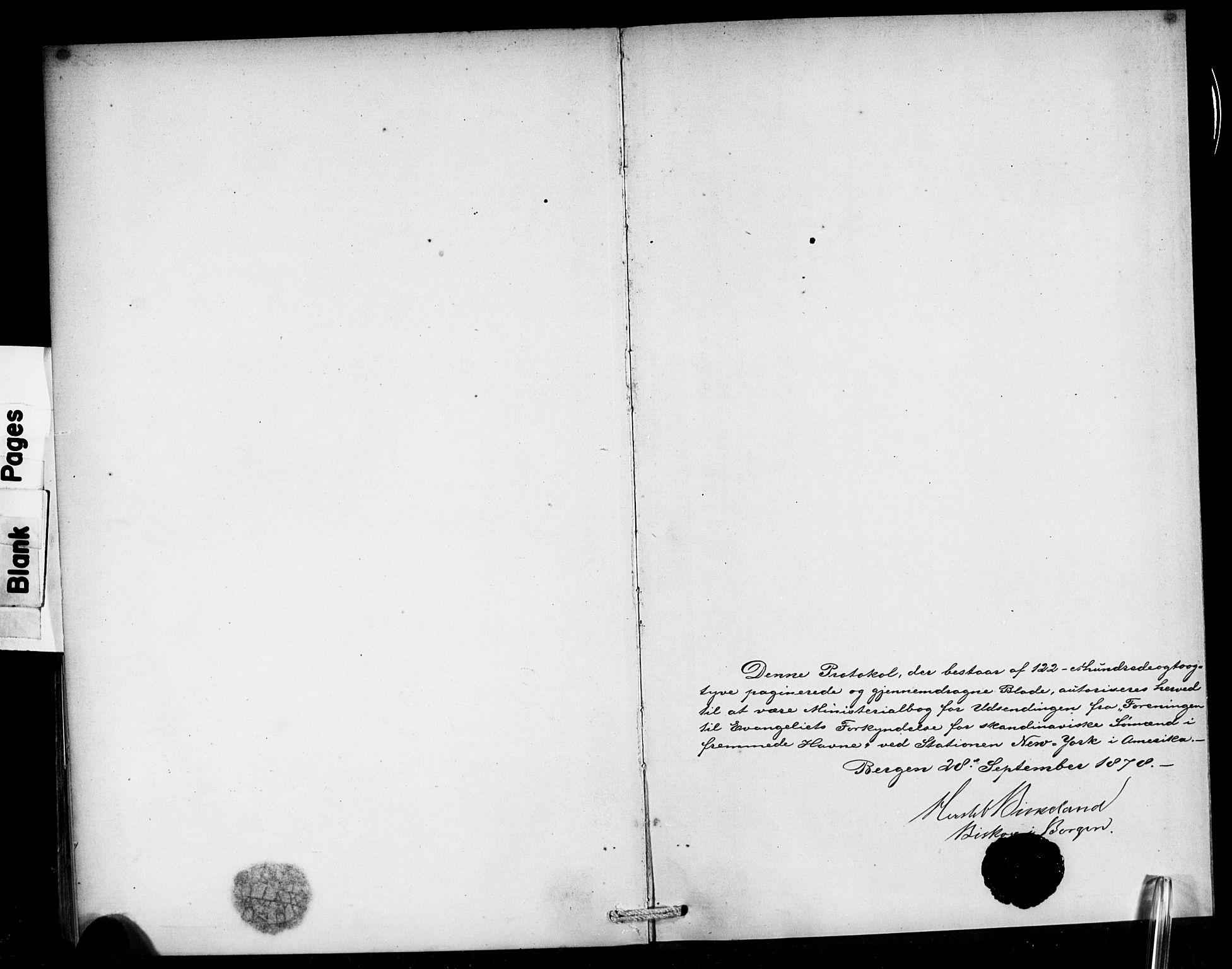 SAB, Den Norske Sjømannsmisjon i utlandet*, Ministerialbok nr. A 1, 1878-1885