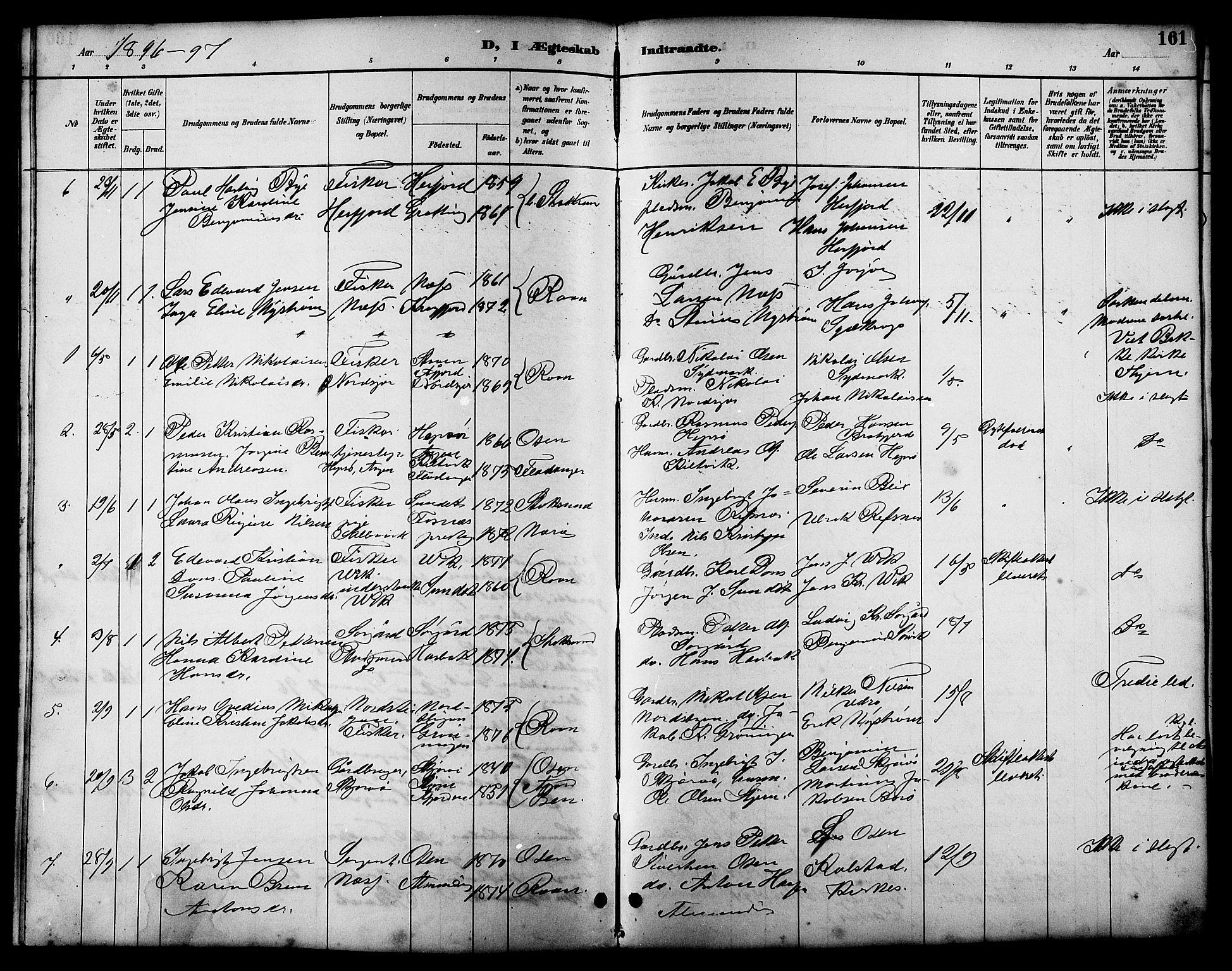SAT, Ministerialprotokoller, klokkerbøker og fødselsregistre - Sør-Trøndelag, 657/L0716: Klokkerbok nr. 657C03, 1889-1904, s. 161