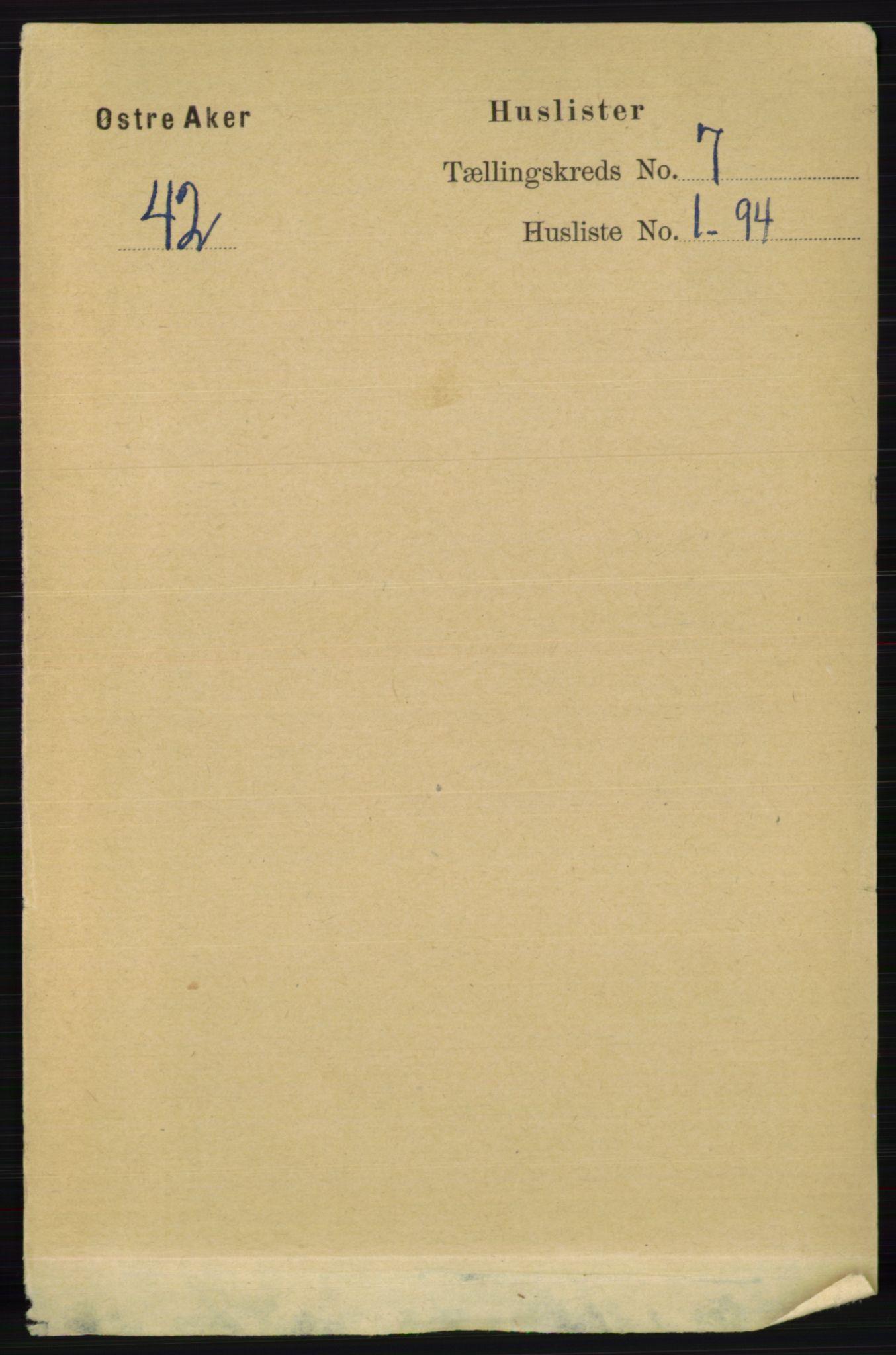 RA, Folketelling 1891 for 0218 Aker herred, 1891, s. 6142