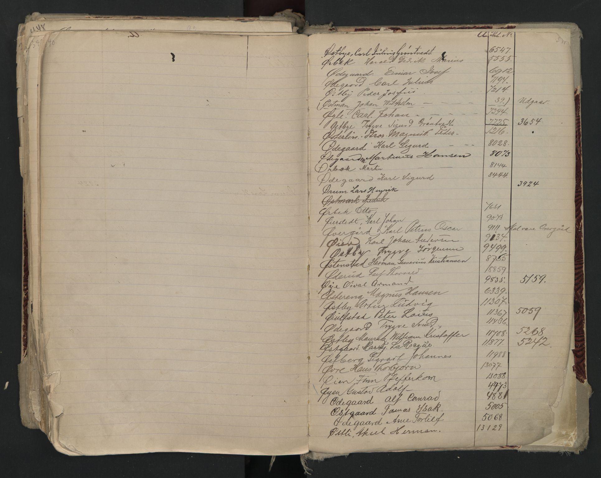 SAO, Oslo sjømannskontor, F/Fa/L0002: Register for Kristiania krets, 1866-1930, s. 540-541