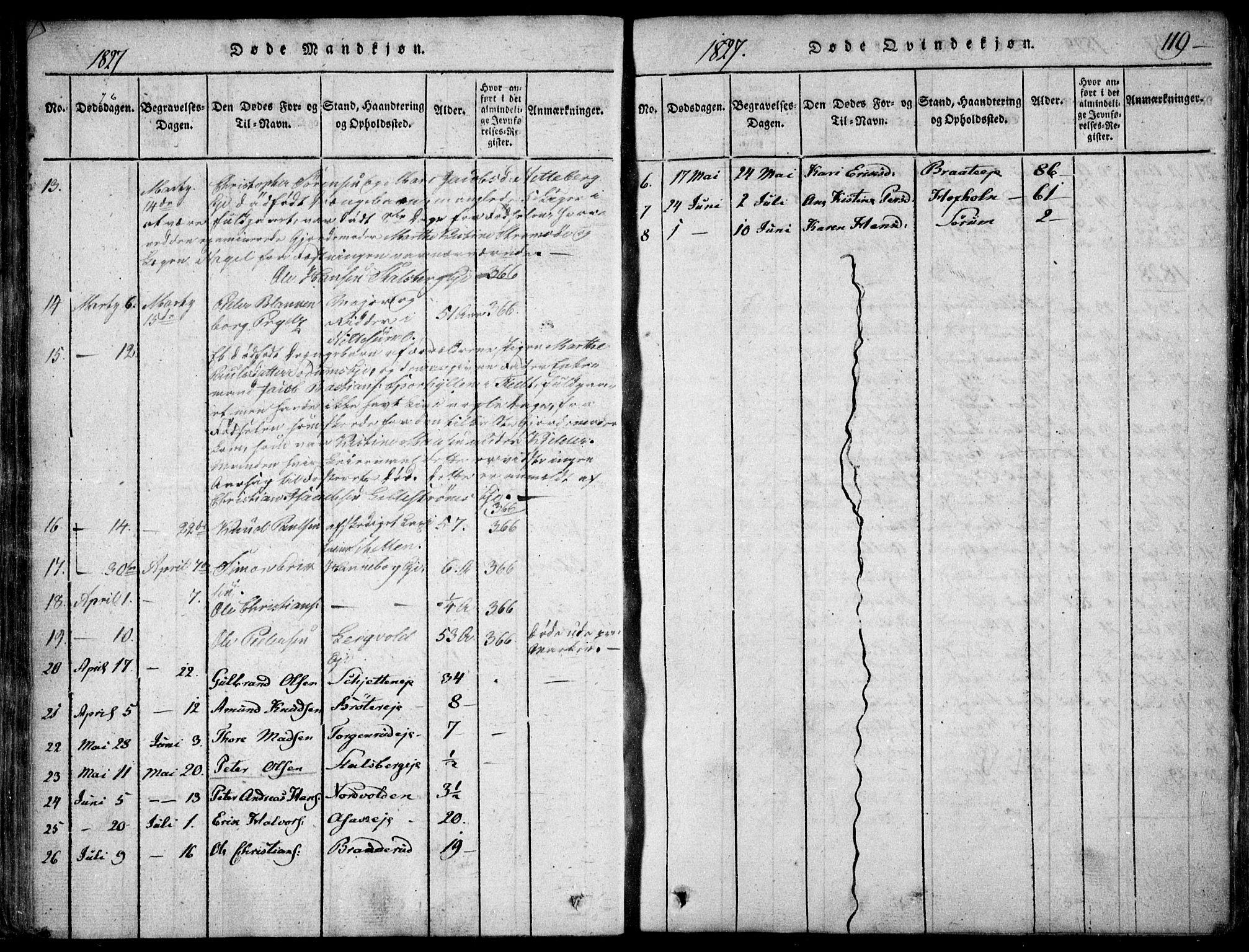 SAO, Skedsmo prestekontor Kirkebøker, F/Fa/L0008: Ministerialbok nr. I 8, 1815-1829, s. 119