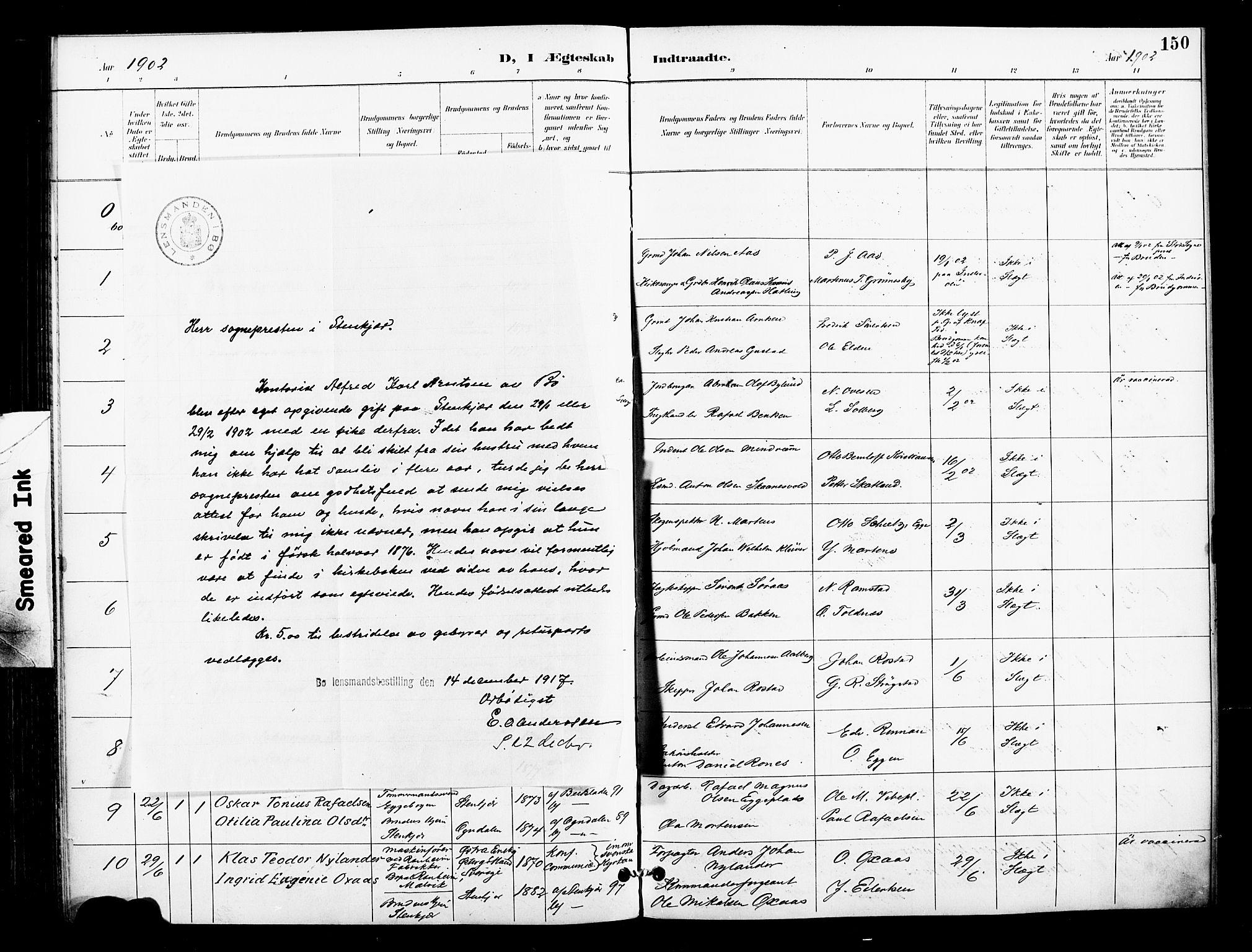 SAT, Ministerialprotokoller, klokkerbøker og fødselsregistre - Nord-Trøndelag, 739/L0372: Ministerialbok nr. 739A04, 1895-1903, s. 150