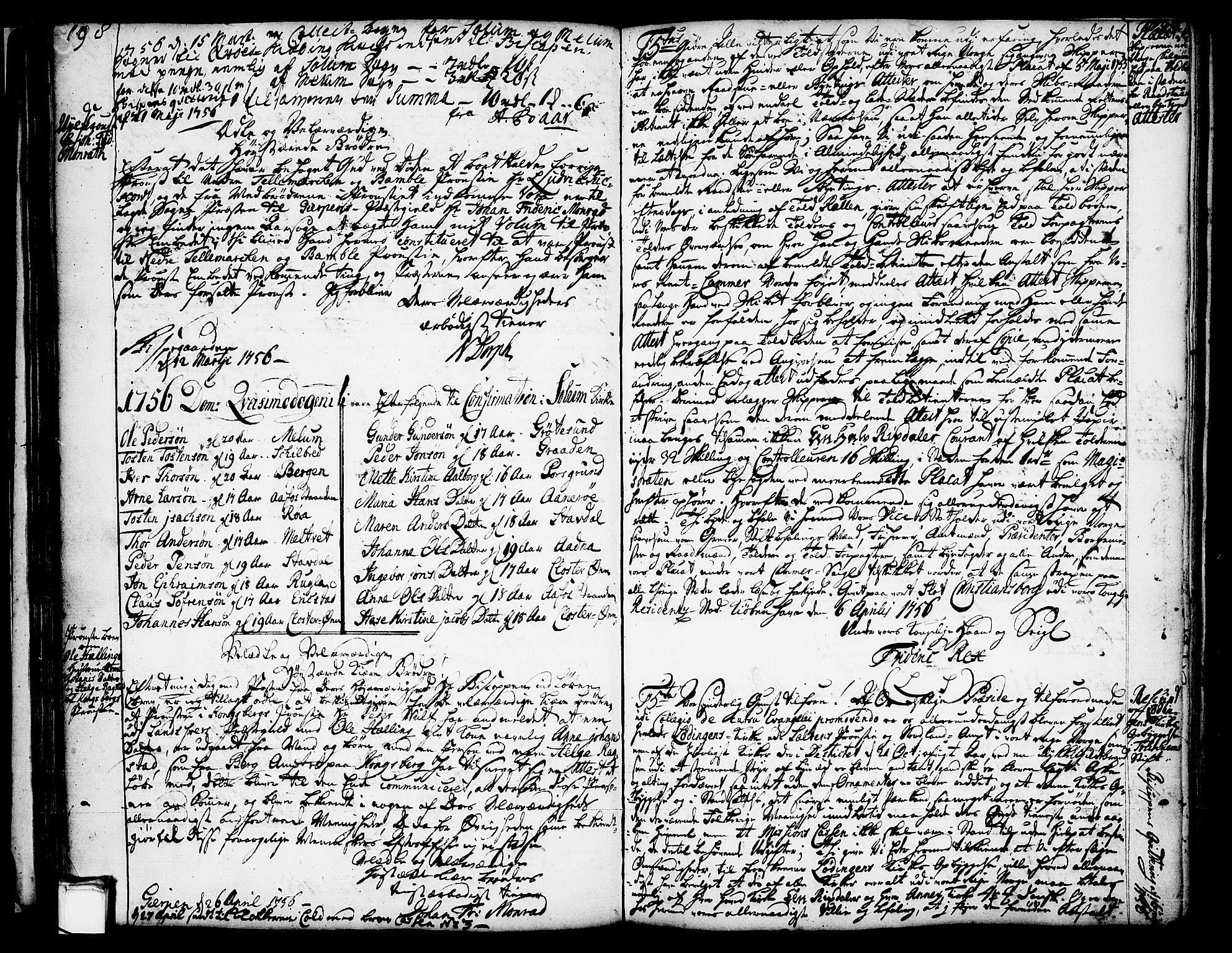 SAKO, Solum kirkebøker, Annen kirkebok nr. ?, 1743-1791, s. 198-199
