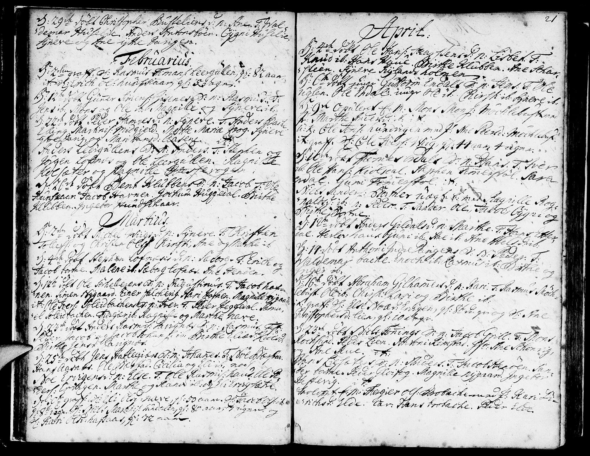 SAB, Davik Sokneprestembete, Ministerialbok nr. A 2, 1742-1816, s. 21