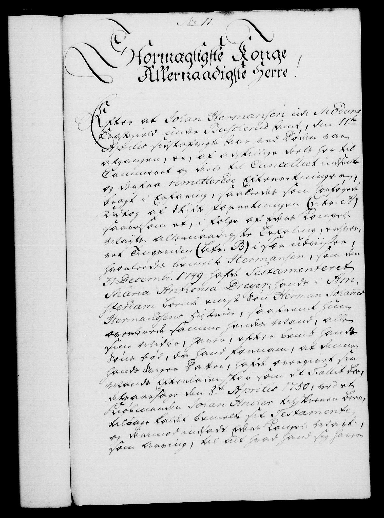 RA, Rentekammeret, Kammerkanselliet, G/Gf/Gfa/L0033: Norsk relasjons- og resolusjonsprotokoll (merket RK 52.33), 1751, s. 76