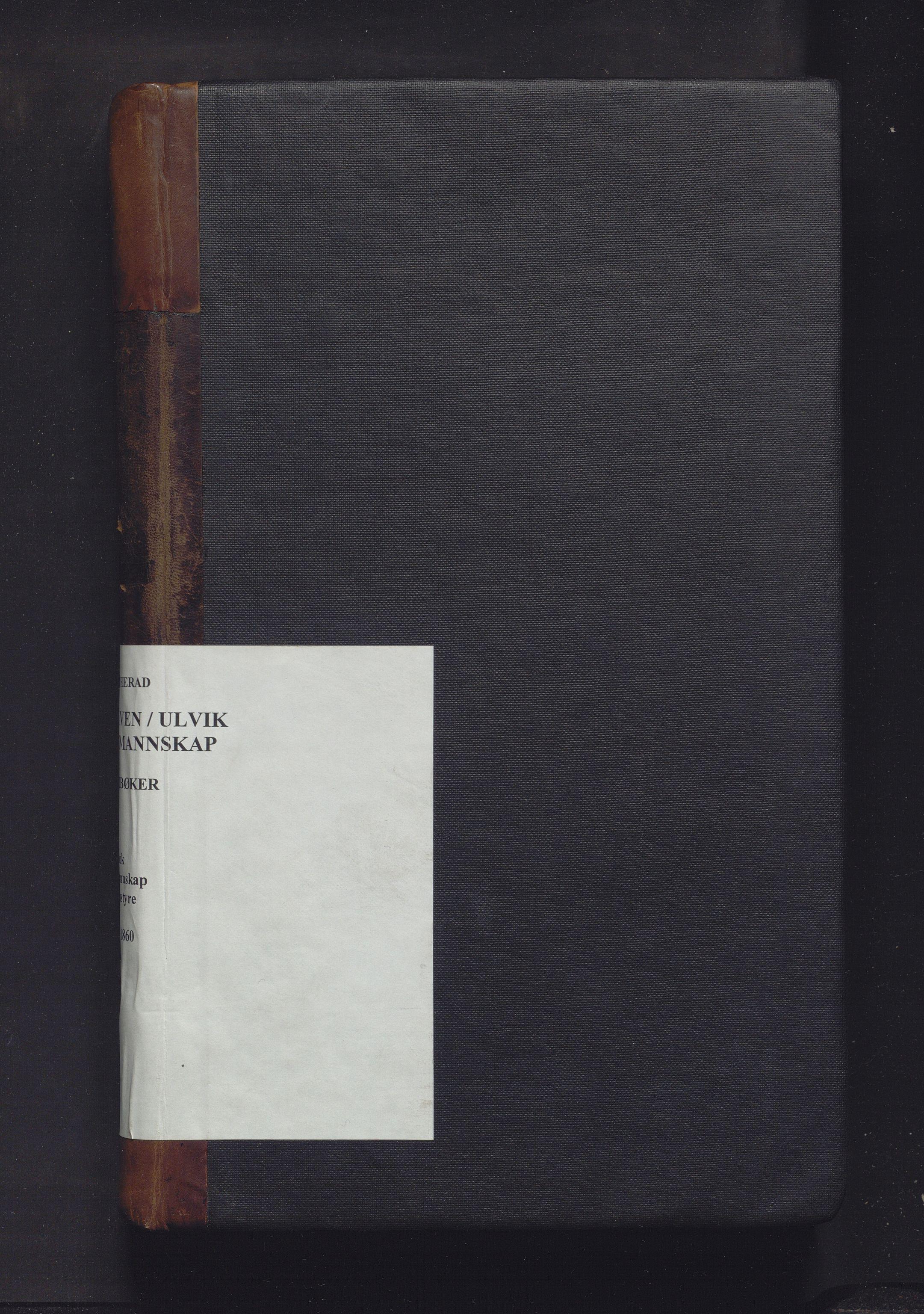IKAH, Ulvik herad. Formannskapet, A/Aa/Aaa/L0001: Møtebok for formannskap, heradsstyre og soknestyra i Eidfjord, Graven og Ulvik soknekommunar, 1838-1860