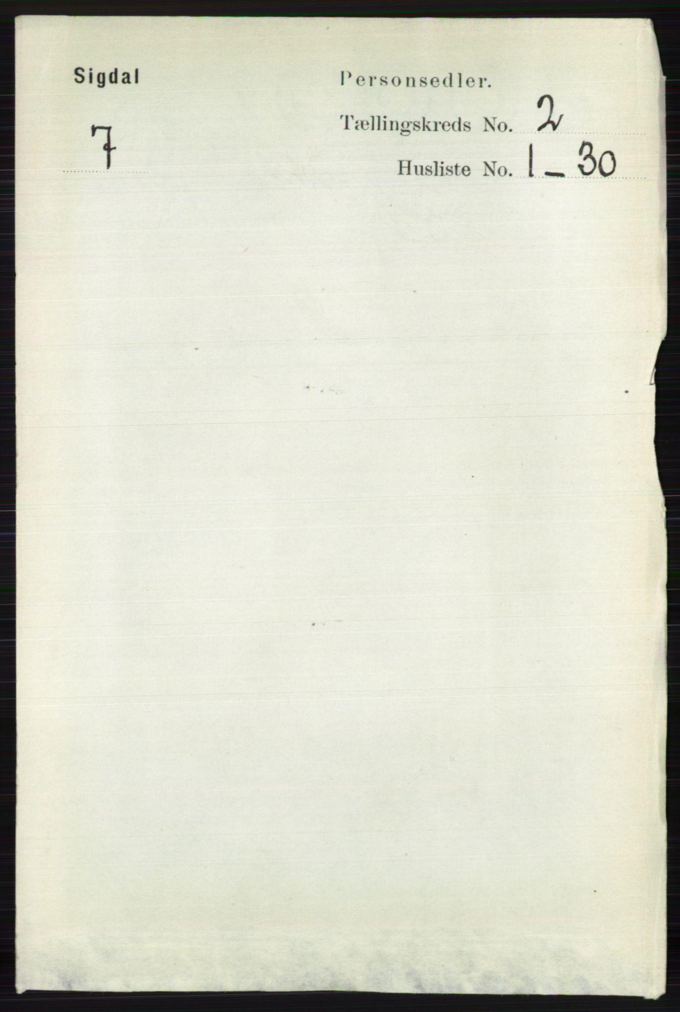 RA, Folketelling 1891 for 0621 Sigdal herred, 1891, s. 953