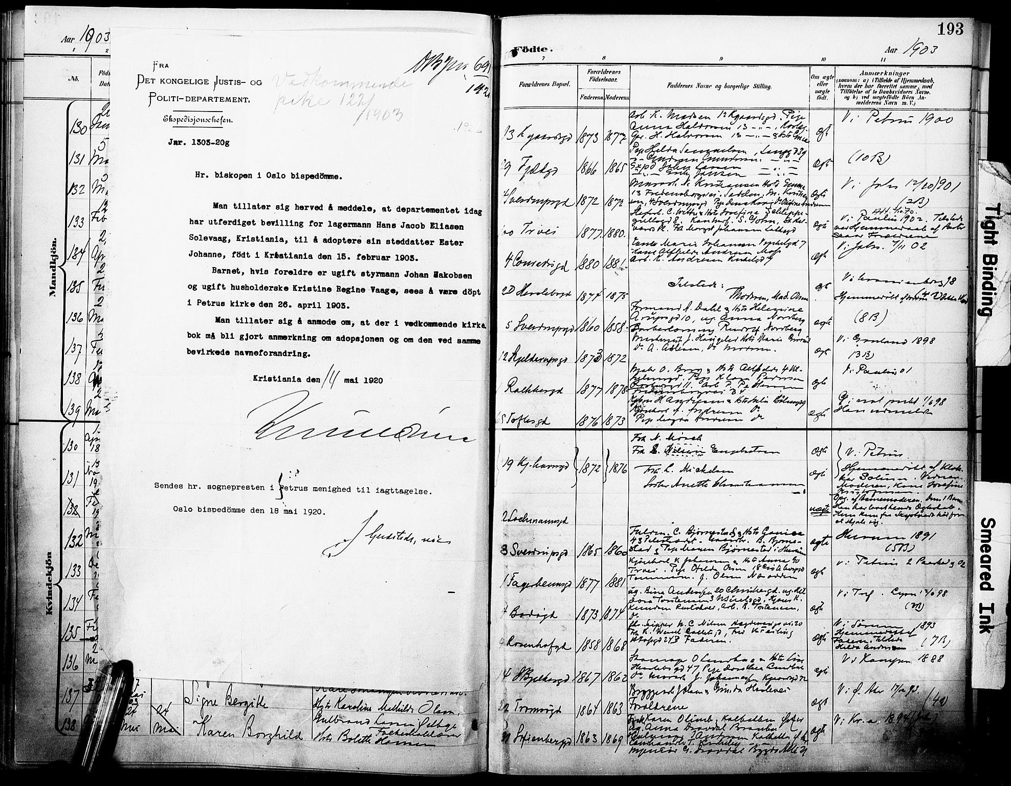 SAO, Petrus prestekontor Kirkebøker, F/Fa/L0005: Ministerialbok nr. 5, 1899-1903