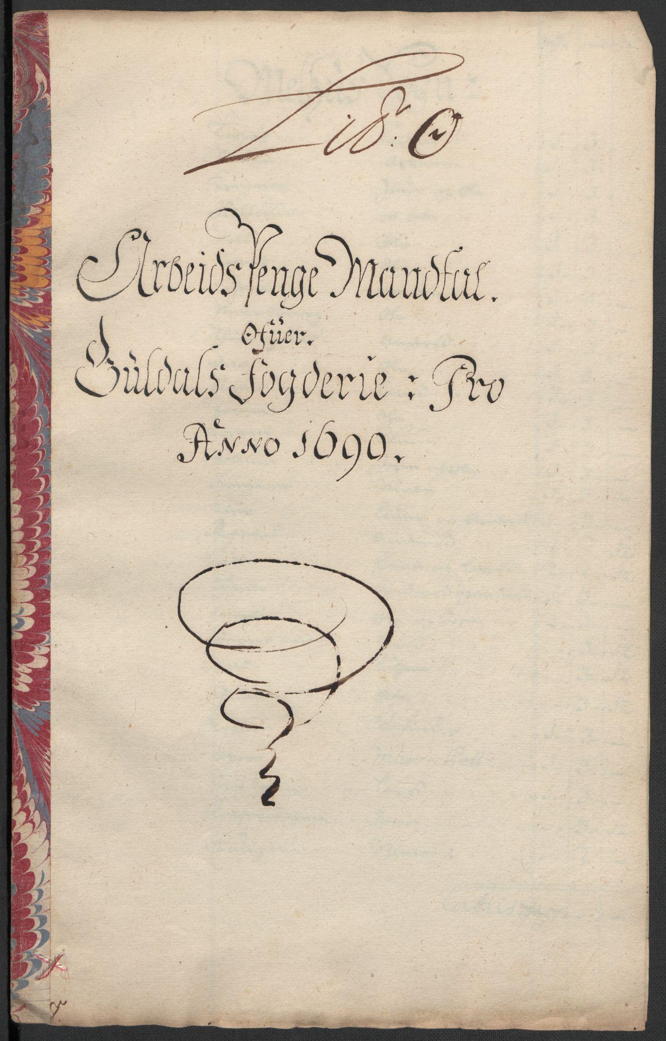 RA, Rentekammeret inntil 1814, Reviderte regnskaper, Fogderegnskap, R59/L3940: Fogderegnskap Gauldal, 1689-1690, s. 351