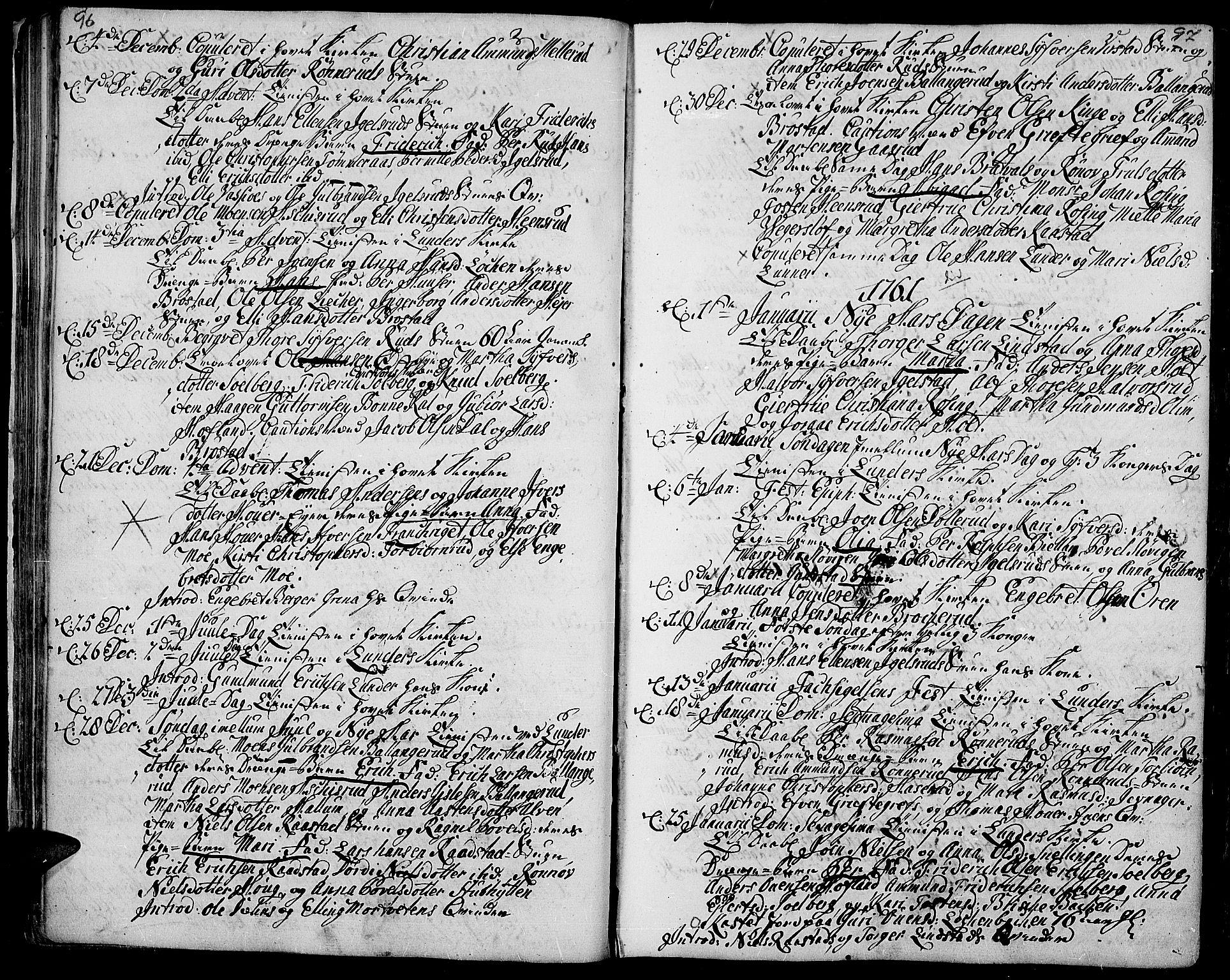 SAH, Jevnaker prestekontor, Ministerialbok nr. 3, 1752-1799, s. 96-97