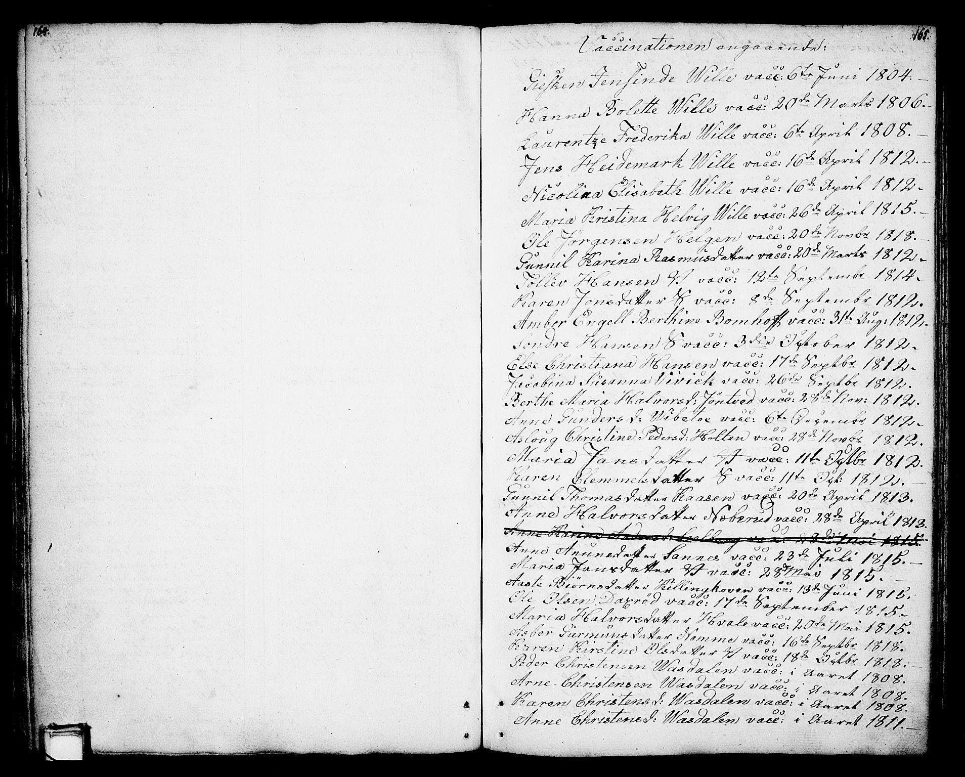 SAKO, Holla kirkebøker, F/Fa/L0002: Ministerialbok nr. 2, 1779-1814, s. 164-165