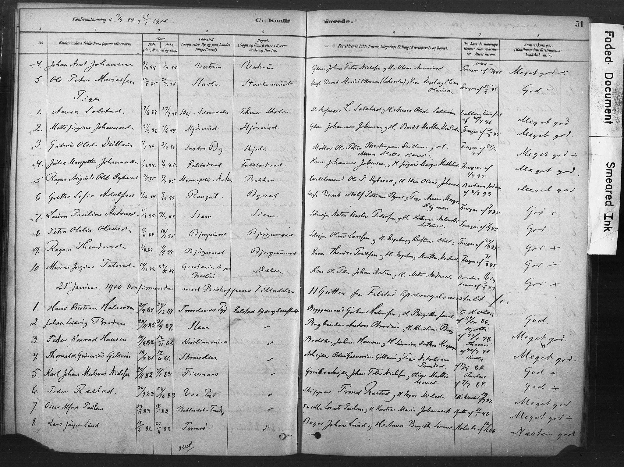 SAT, Ministerialprotokoller, klokkerbøker og fødselsregistre - Nord-Trøndelag, 719/L0178: Ministerialbok nr. 719A01, 1878-1900, s. 51