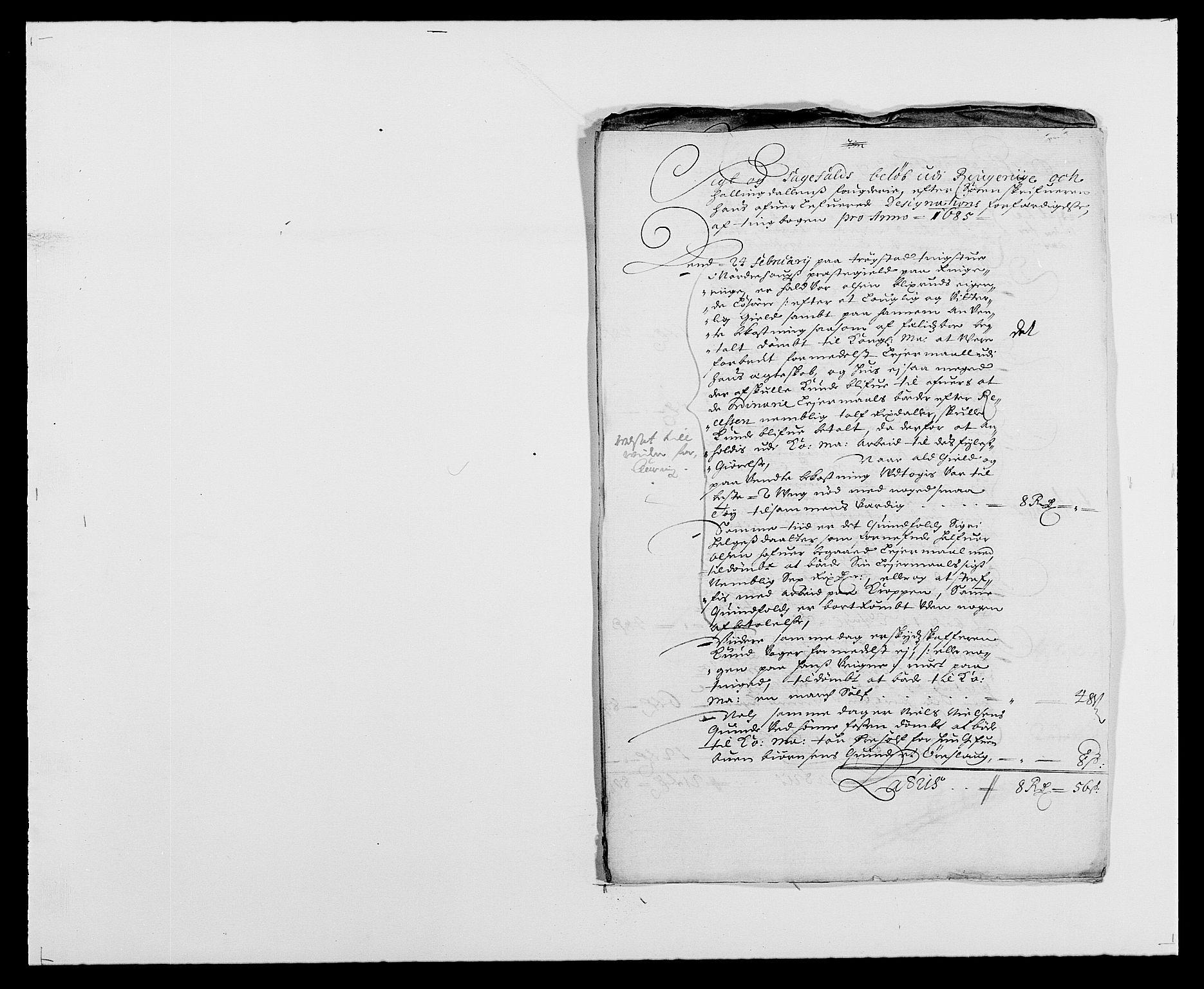 RA, Rentekammeret inntil 1814, Reviderte regnskaper, Fogderegnskap, R21/L1446: Fogderegnskap Ringerike og Hallingdal, 1683-1686, s. 330