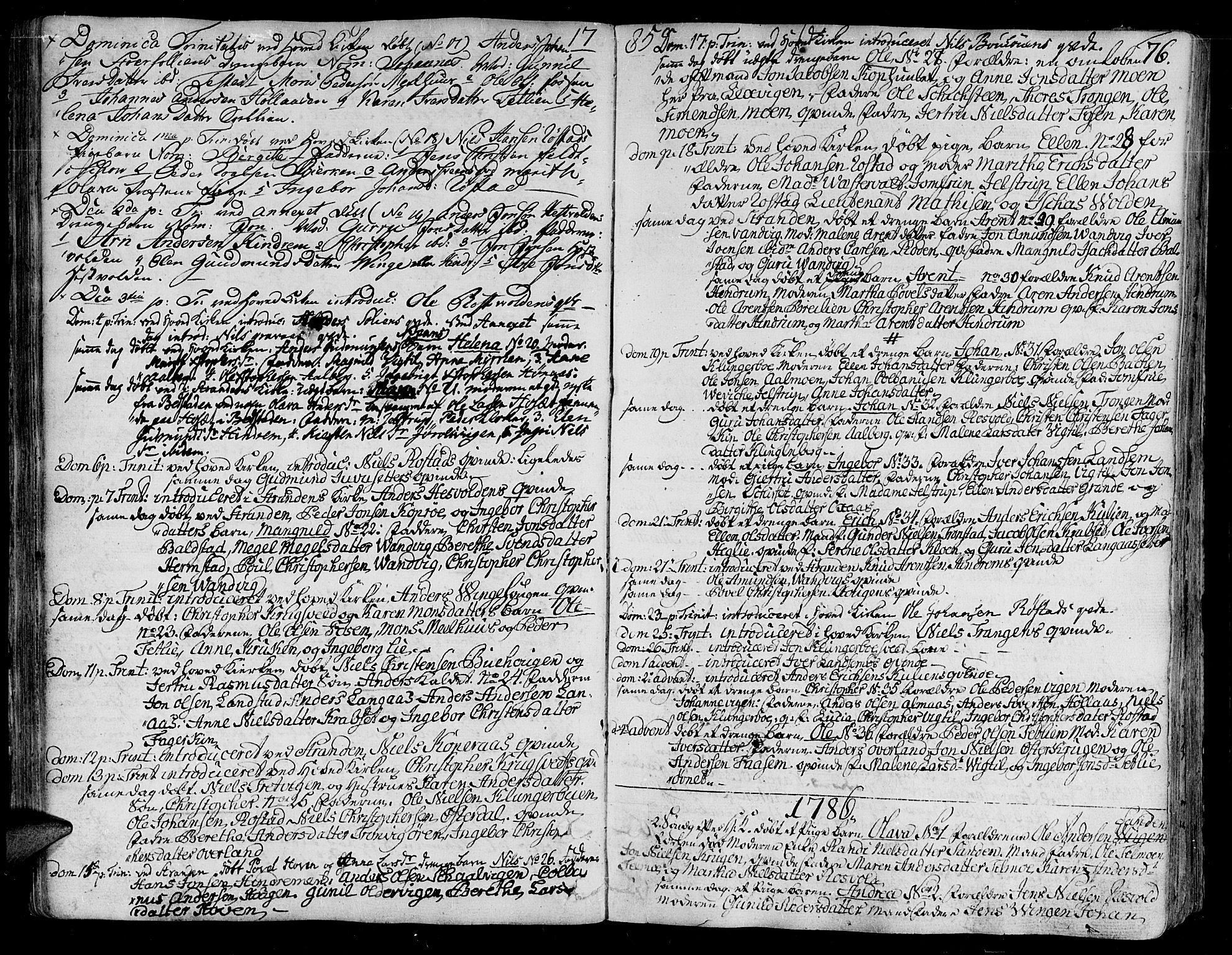 SAT, Ministerialprotokoller, klokkerbøker og fødselsregistre - Nord-Trøndelag, 701/L0004: Ministerialbok nr. 701A04, 1783-1816, s. 76