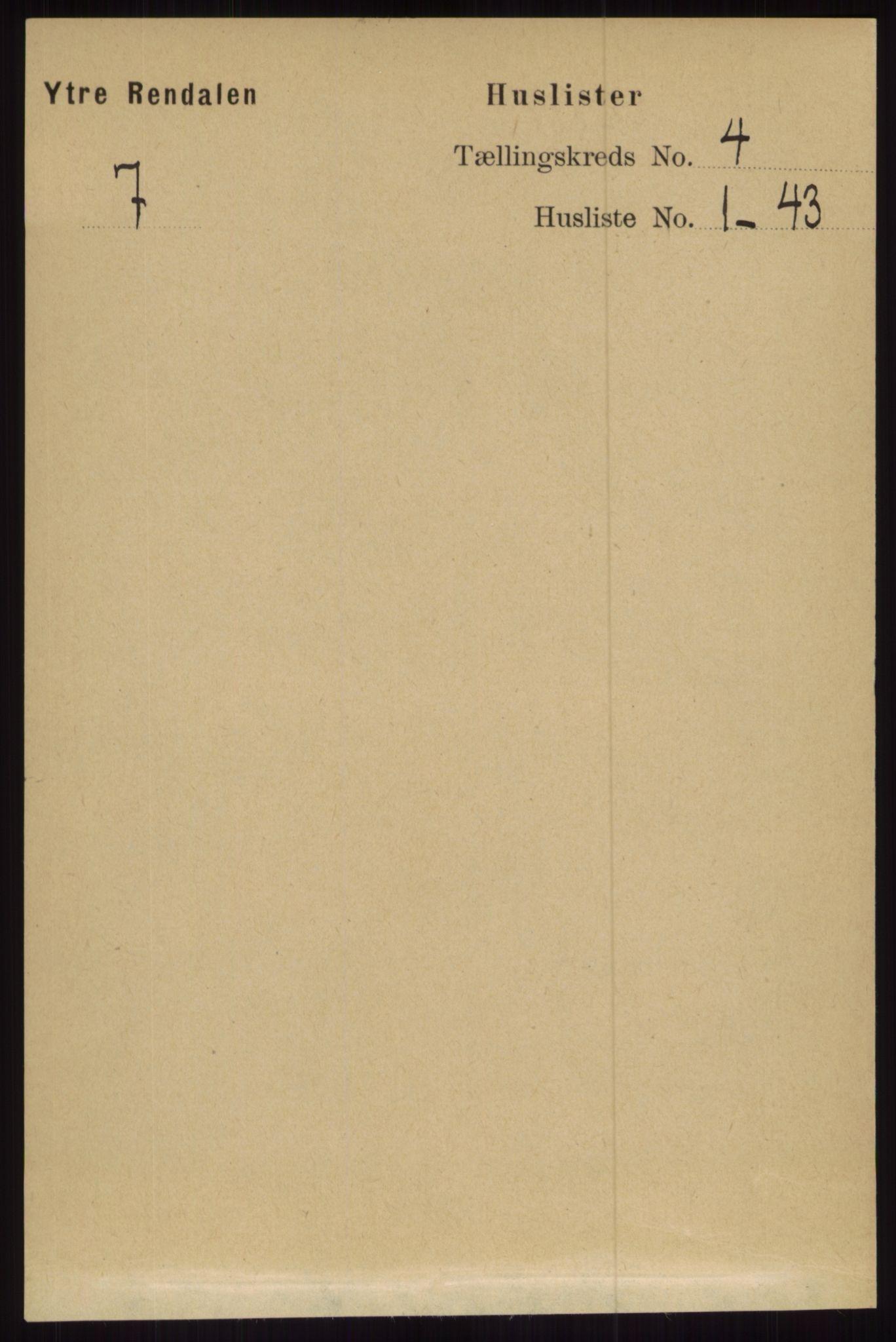RA, Folketelling 1891 for 0432 Ytre Rendal herred, 1891, s. 682
