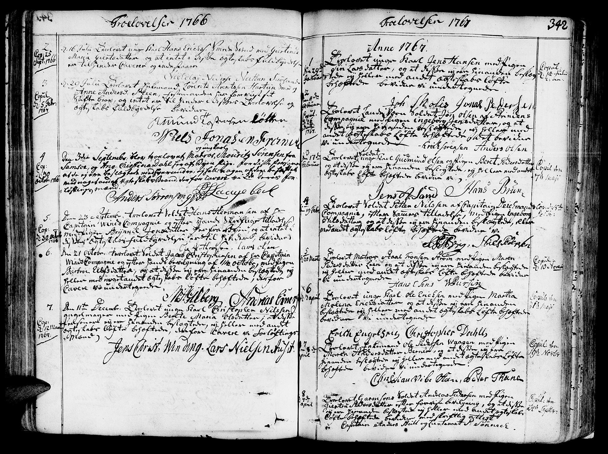 SAT, Ministerialprotokoller, klokkerbøker og fødselsregistre - Sør-Trøndelag, 602/L0103: Ministerialbok nr. 602A01, 1732-1774, s. 342