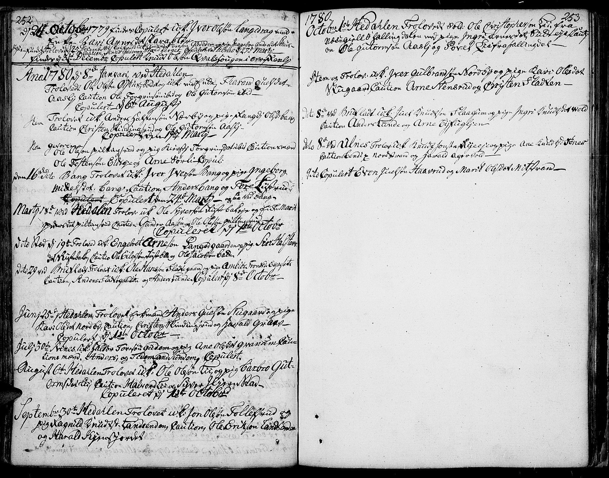 SAH, Aurdal prestekontor, Ministerialbok nr. 5, 1763-1781, s. 252-253