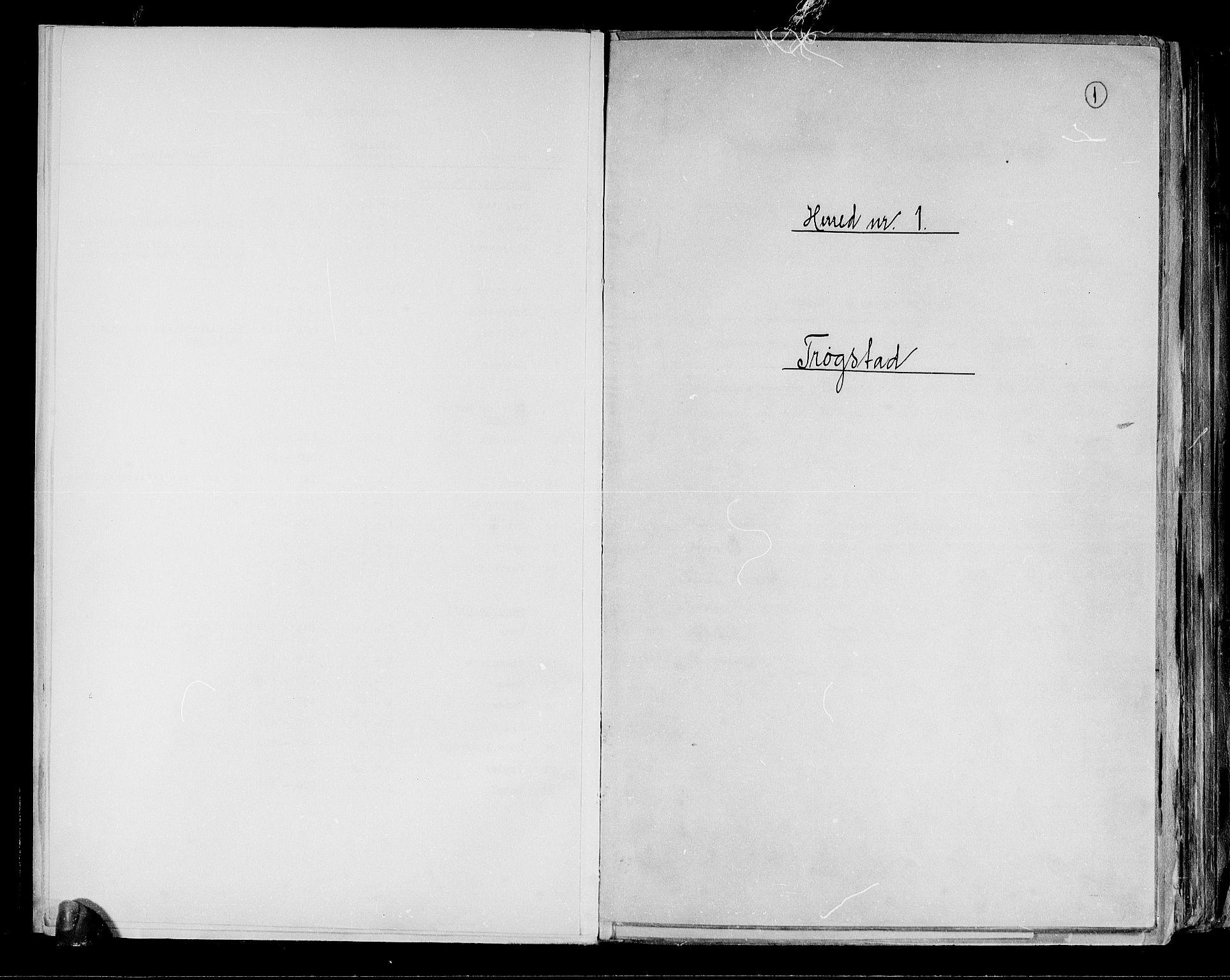 RA, Folketelling 1891 for 0122 Trøgstad herred, 1891, s. 1