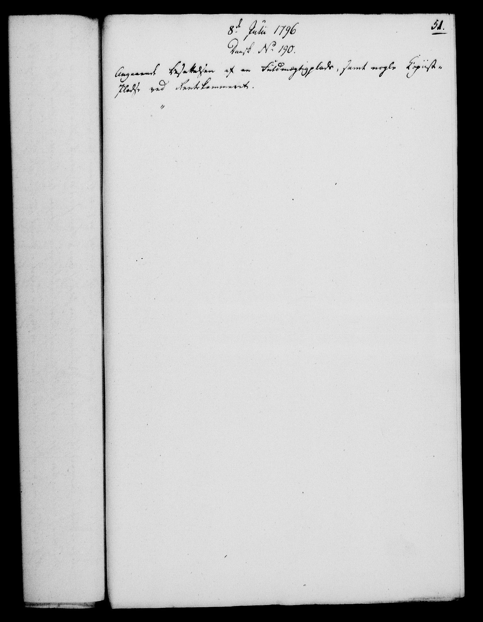 RA, Rentekammeret, Kammerkanselliet, G/Gf/Gfa/L0078: Norsk relasjons- og resolusjonsprotokoll (merket RK 52.78), 1796, s. 269