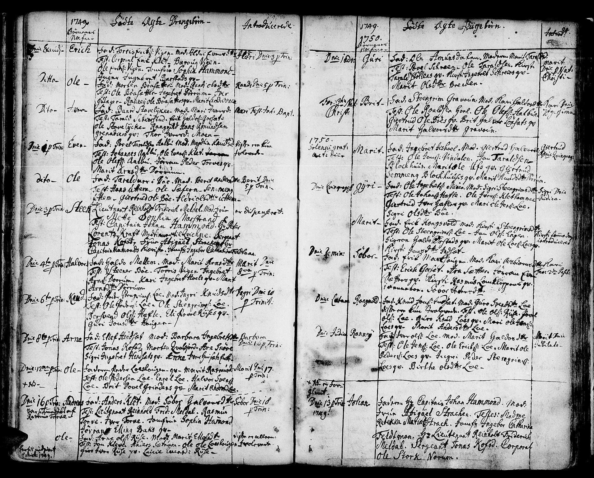 SAT, Ministerialprotokoller, klokkerbøker og fødselsregistre - Sør-Trøndelag, 678/L0891: Ministerialbok nr. 678A01, 1739-1780, s. 84