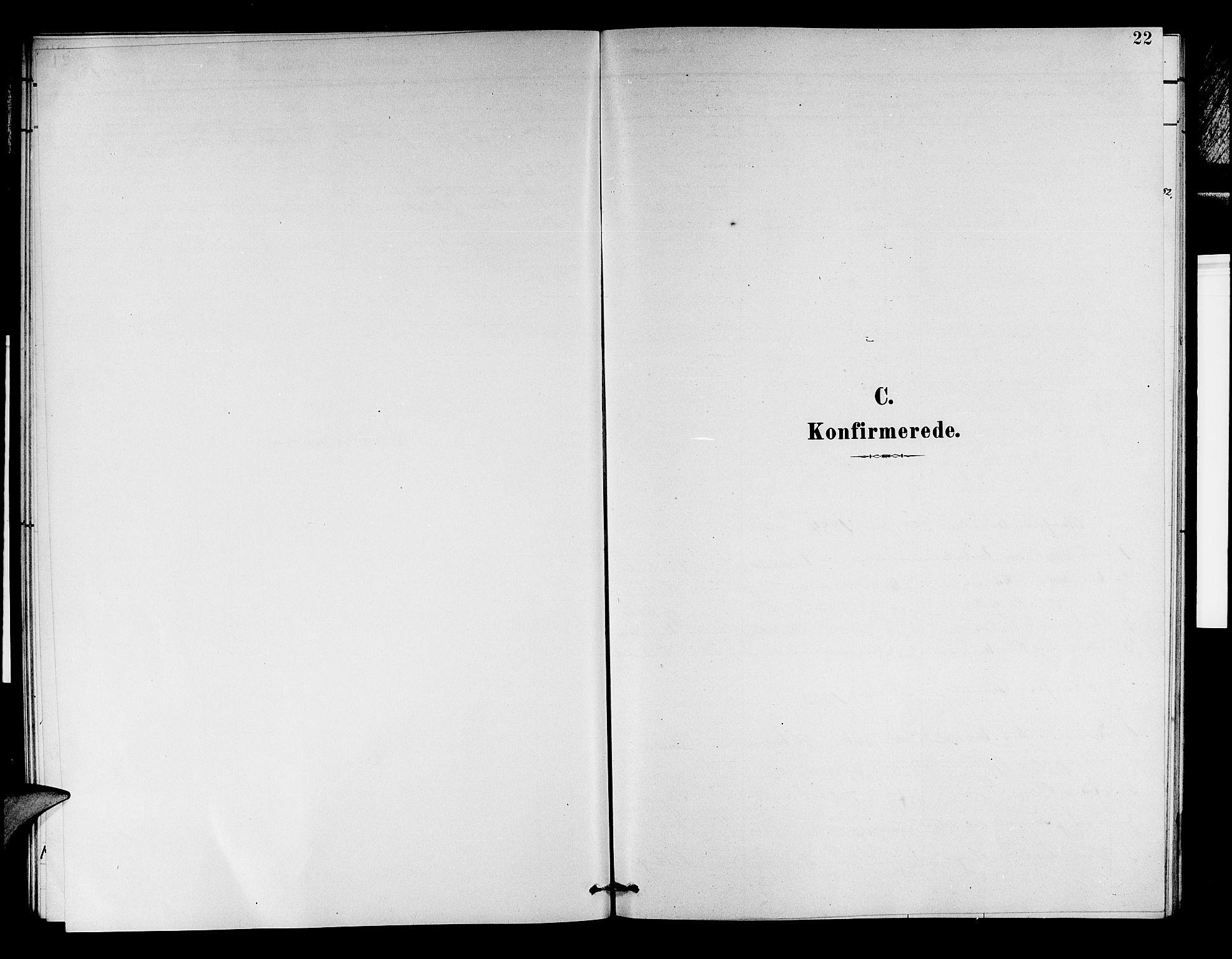 SAB, Aurland Sokneprestembete*, Klokkerbok nr. D 2, 1883-1920, s. 22