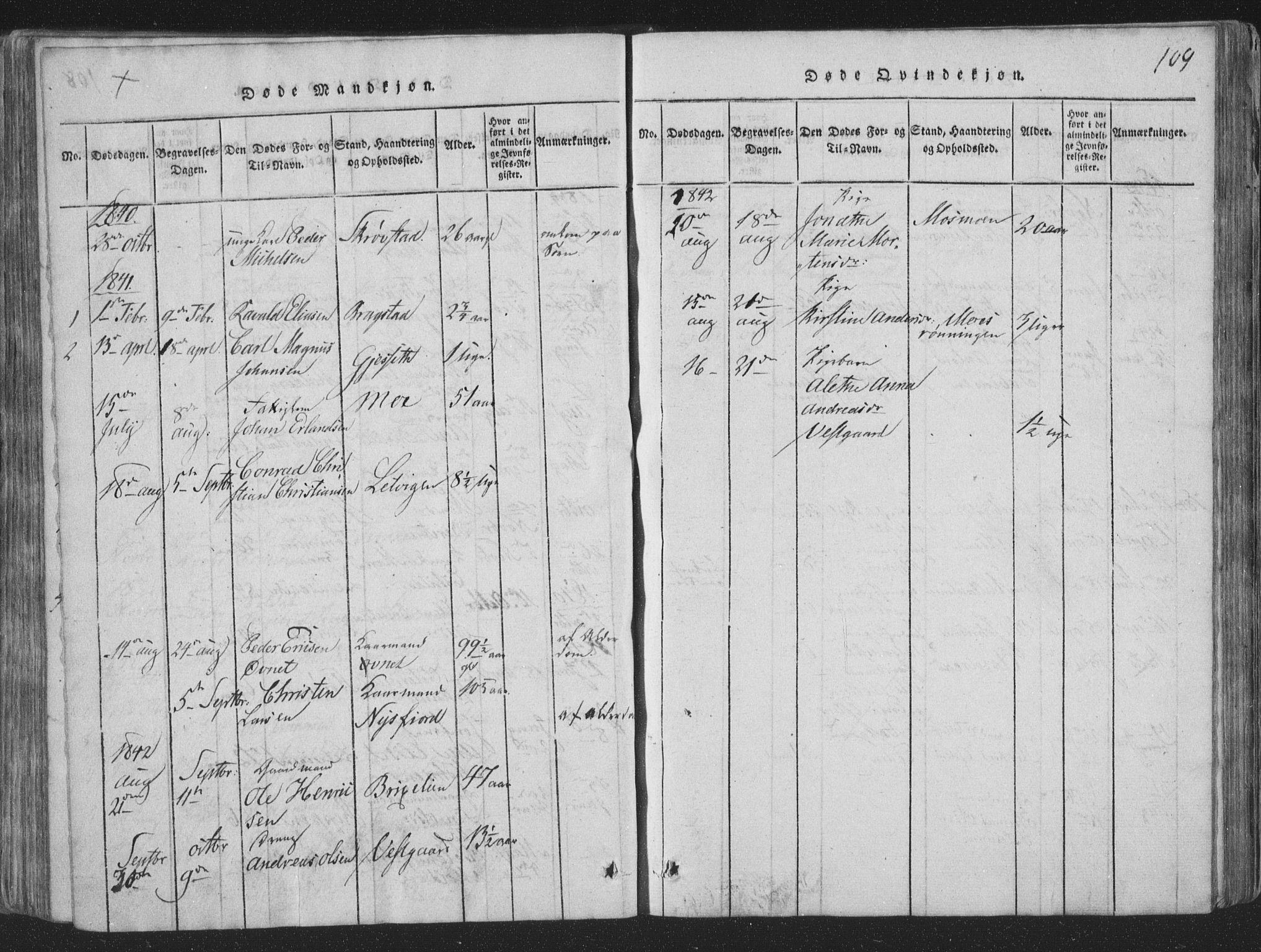 SAT, Ministerialprotokoller, klokkerbøker og fødselsregistre - Nord-Trøndelag, 773/L0613: Ministerialbok nr. 773A04, 1815-1845, s. 109