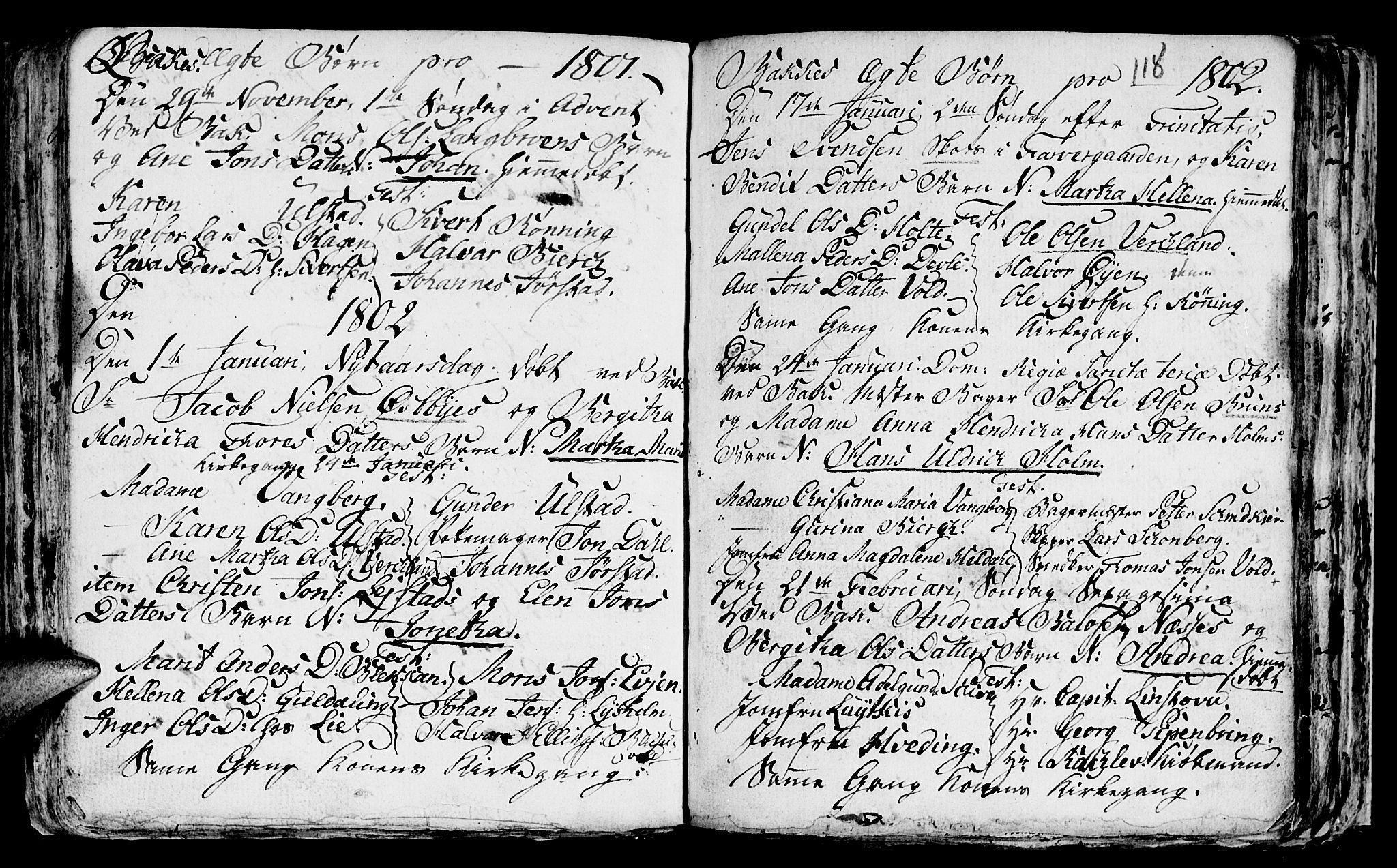 SAT, Ministerialprotokoller, klokkerbøker og fødselsregistre - Sør-Trøndelag, 604/L0218: Klokkerbok nr. 604C01, 1754-1819, s. 118
