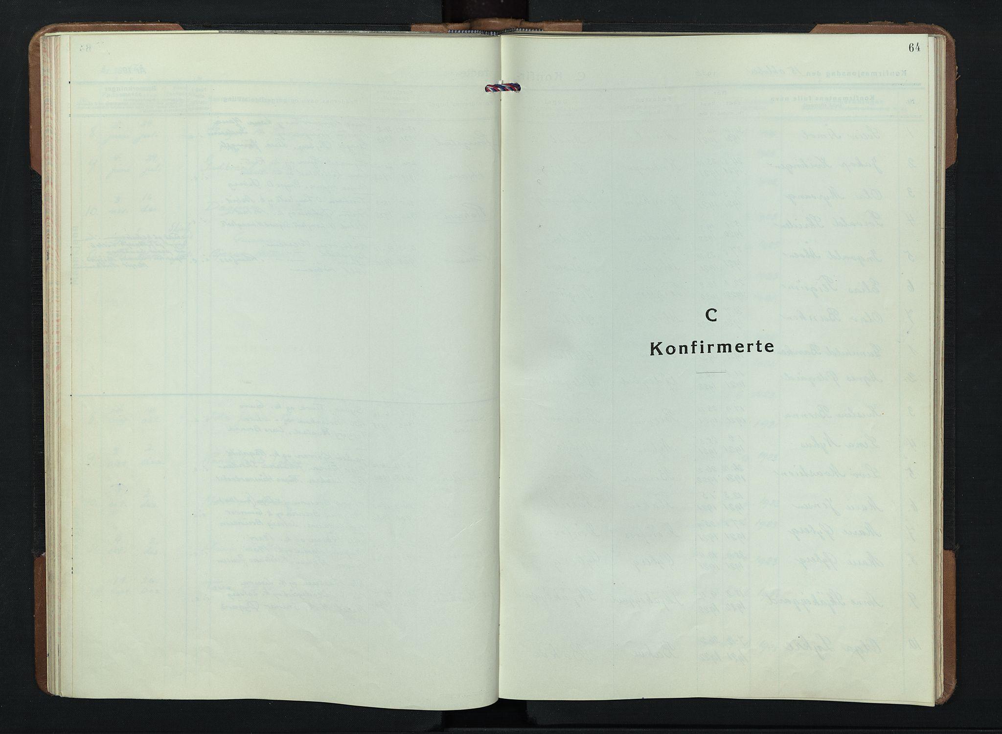 SAH, Skjåk prestekontor, Klokkerbok nr. 7, 1936-1958, s. 64