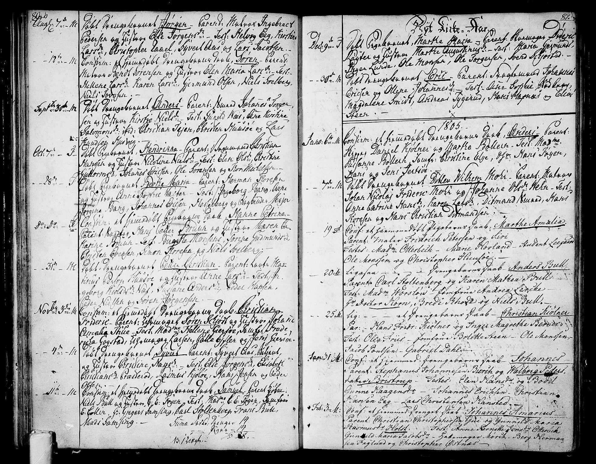 SAKO, Tønsberg kirkebøker, F/Fa/L0003: Ministerialbok nr. I 3, 1797-1814, s. 80-81