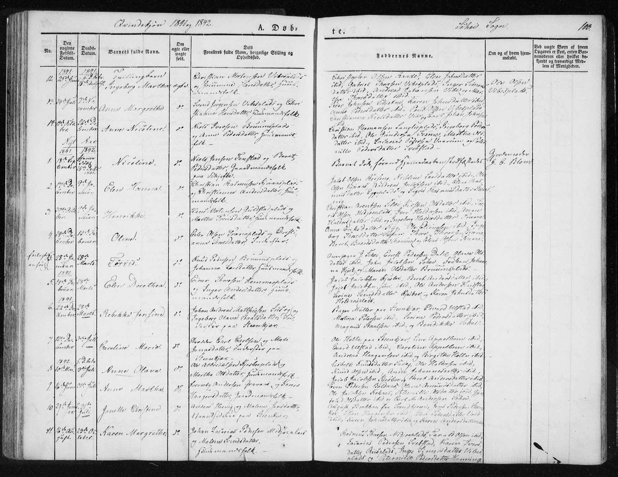 SAT, Ministerialprotokoller, klokkerbøker og fødselsregistre - Nord-Trøndelag, 735/L0339: Ministerialbok nr. 735A06 /2, 1836-1848, s. 103