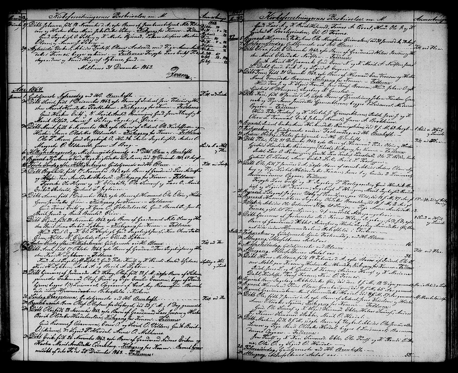 SAT, Ministerialprotokoller, klokkerbøker og fødselsregistre - Sør-Trøndelag, 691/L1093: Klokkerbok nr. 691C04, 1852-1879, s. 74