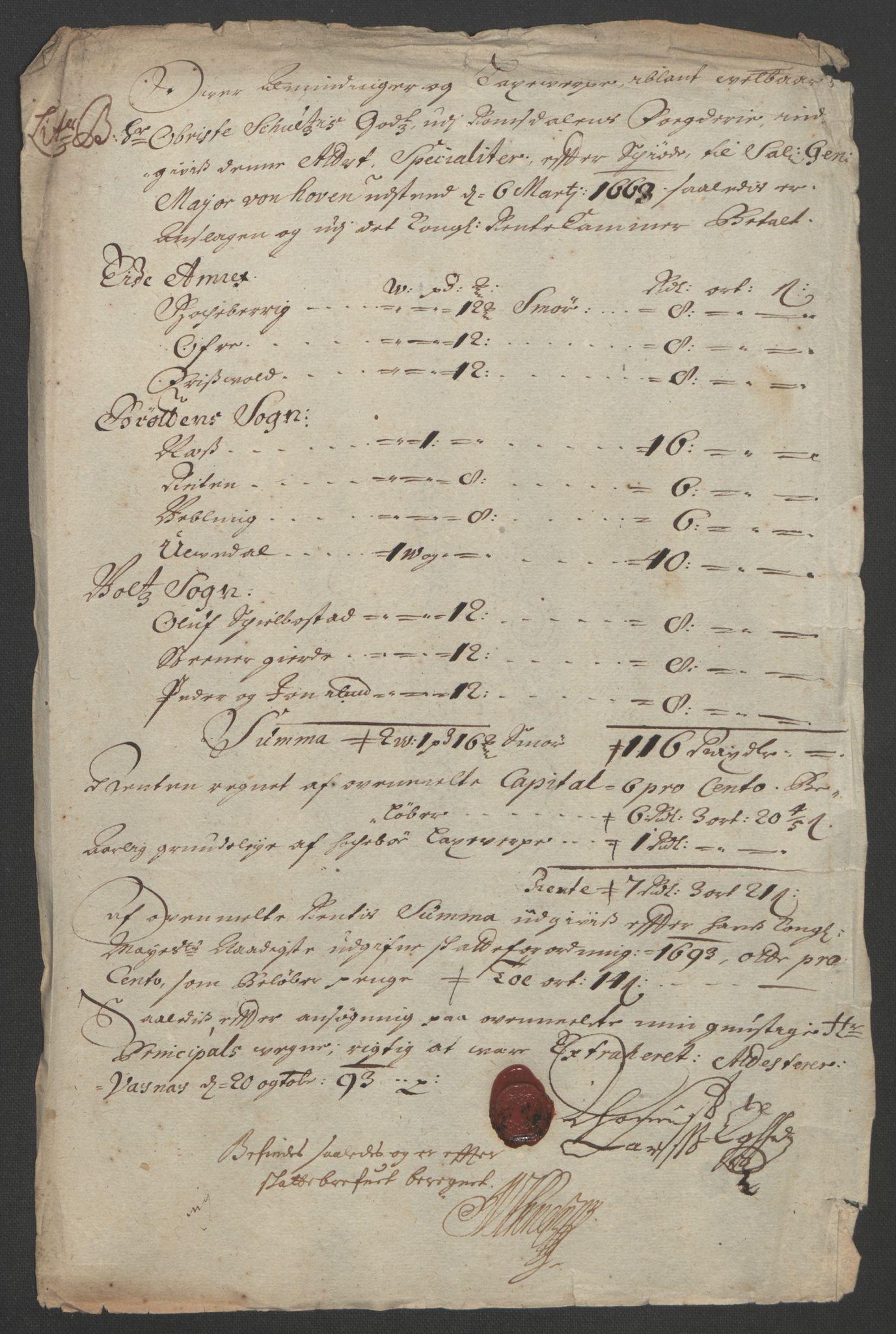 RA, Rentekammeret inntil 1814, Reviderte regnskaper, Fogderegnskap, R55/L3651: Fogderegnskap Romsdal, 1693-1694, s. 66