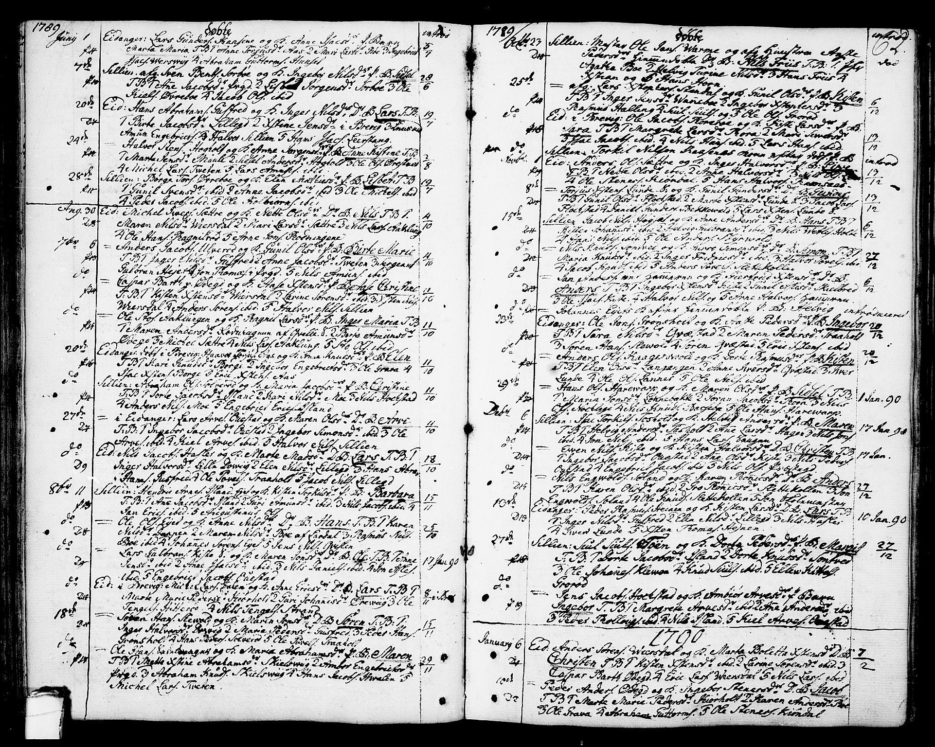 SAKO, Eidanger kirkebøker, F/Fa/L0006: Ministerialbok nr. 6, 1764-1814, s. 62