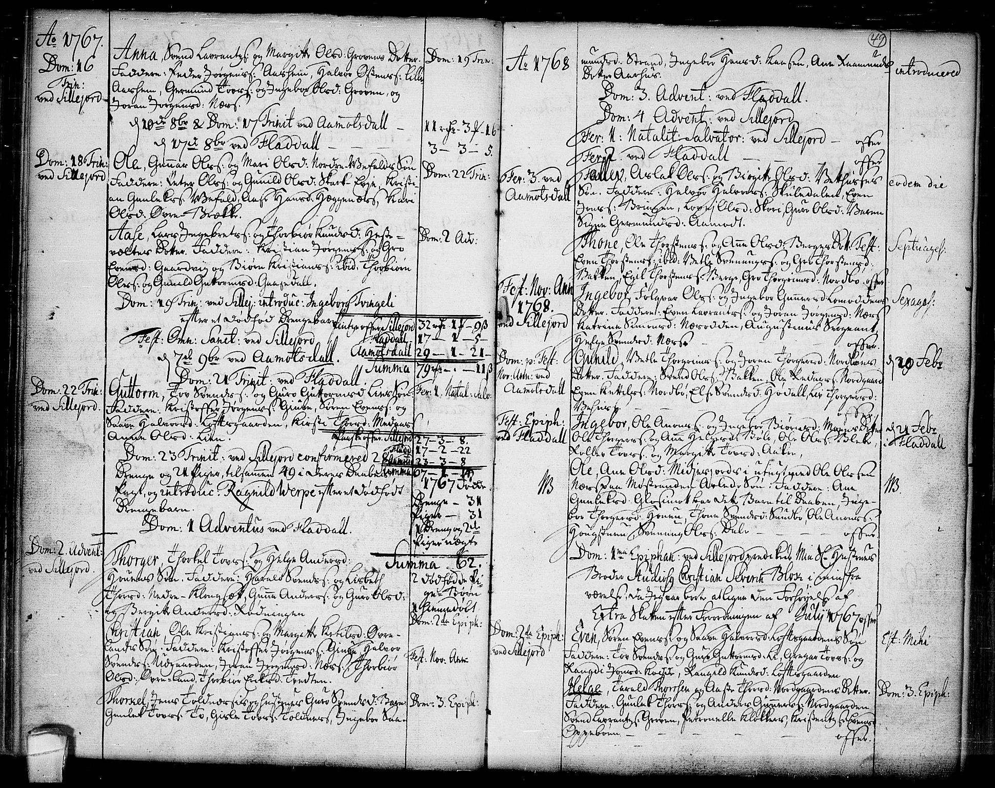 SAKO, Seljord kirkebøker, F/Fa/L0007: Ministerialbok nr. I 7, 1755-1800, s. 49