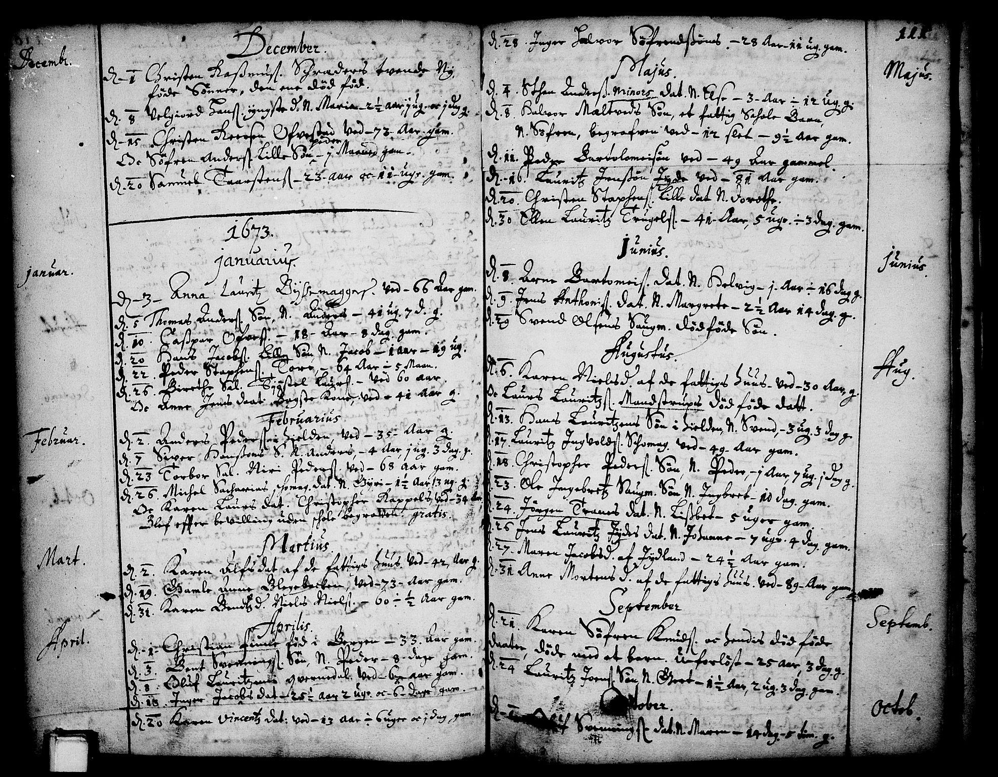 SAKO, Skien kirkebøker, F/Fa/L0001: Ministerialbok nr. 1, 1659-1679, s. 111
