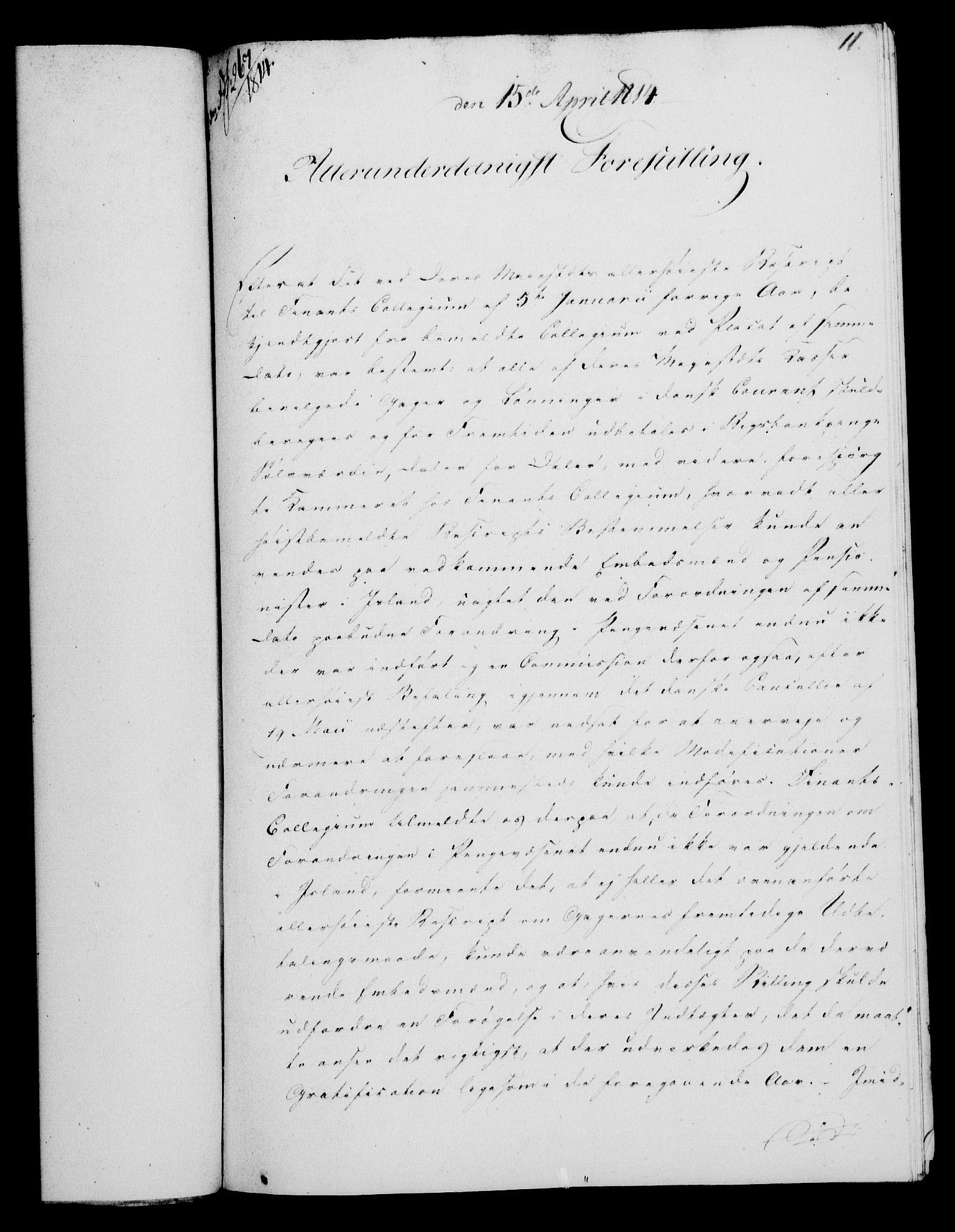 RA, Rentekammeret, Kammerkanselliet, G/Gf/Gfa/L0095: Norsk relasjons- og resolusjonsprotokoll (merket RK 52.95), 1813-1814, s. 595