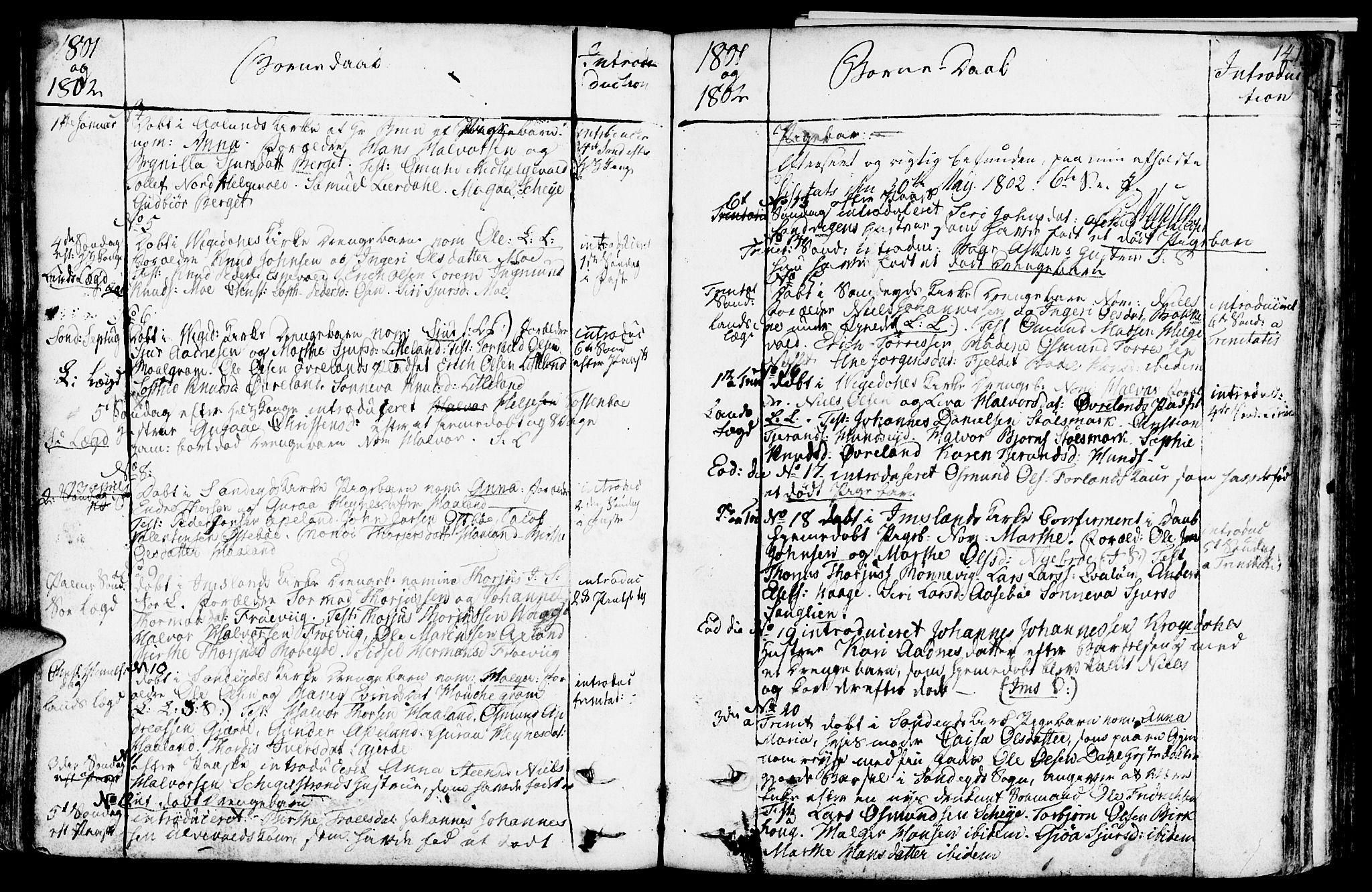 SAST, Vikedal sokneprestkontor, IV: Ministerialbok nr. A 2, 1779-1817, s. 141
