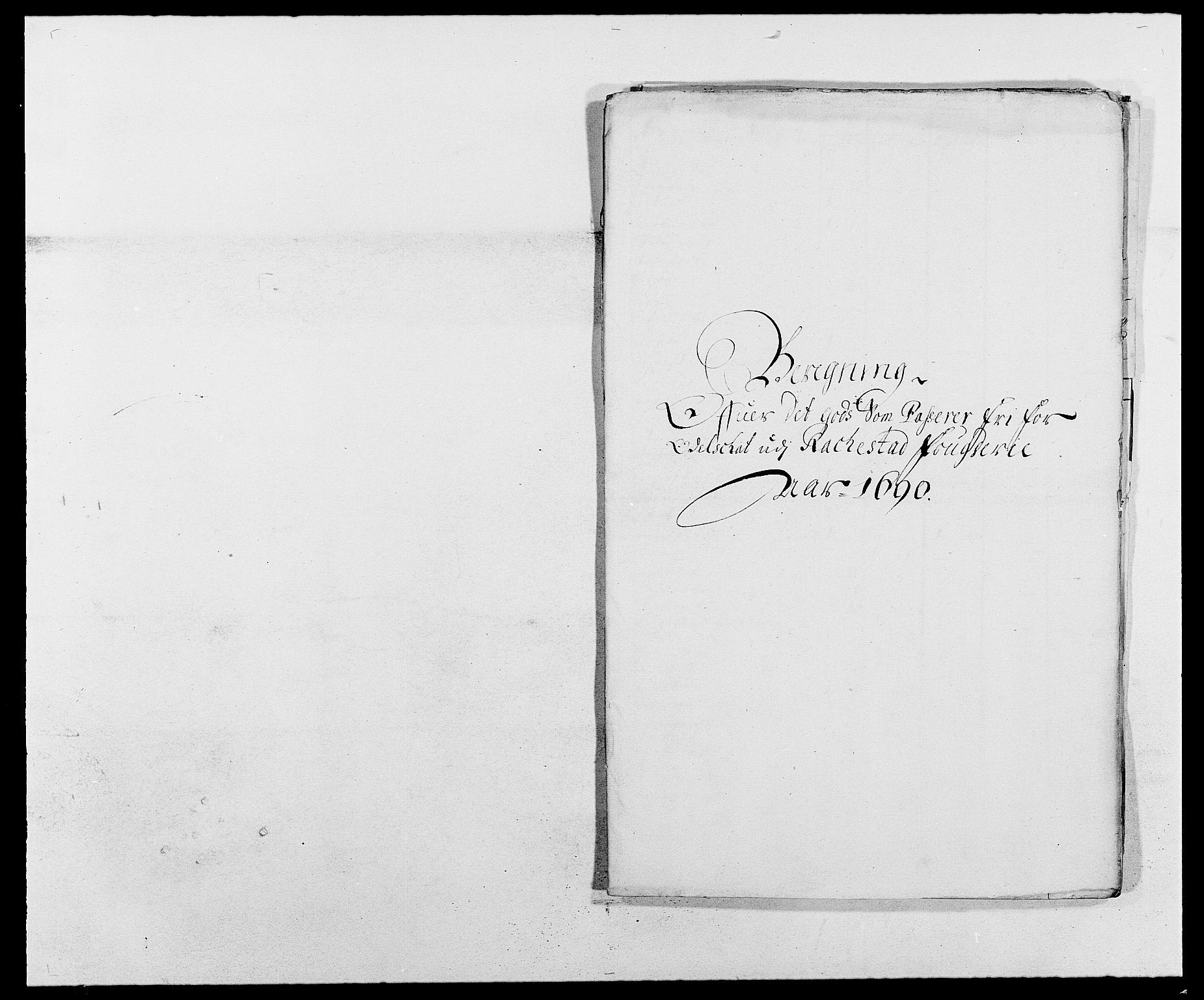 RA, Rentekammeret inntil 1814, Reviderte regnskaper, Fogderegnskap, R05/L0277: Fogderegnskap Rakkestad, 1689-1690, s. 366