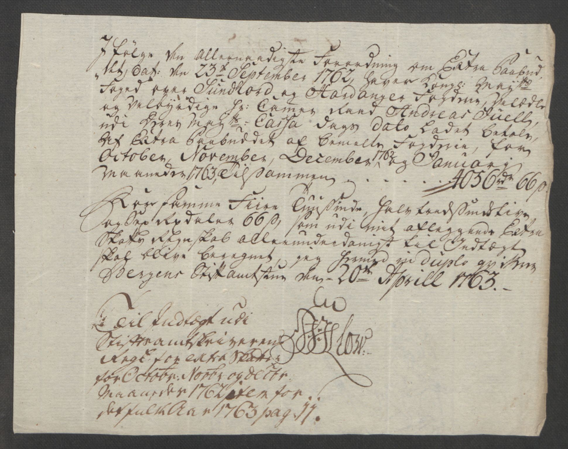 RA, Rentekammeret inntil 1814, Reviderte regnskaper, Fogderegnskap, R48/L3136: Ekstraskatten Sunnhordland og Hardanger, 1762-1772, s. 13
