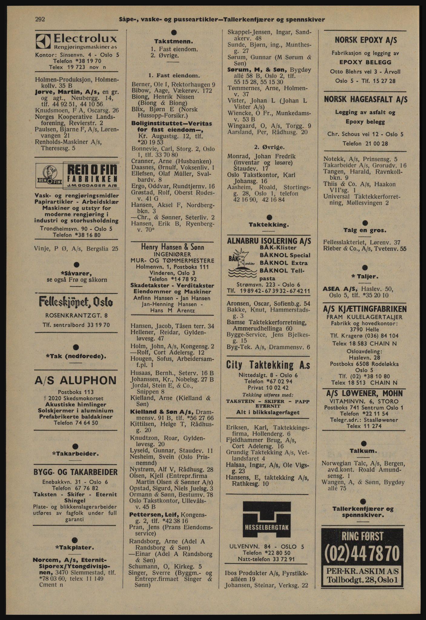 PUBL, Kristiania/Oslo adressebok, 1978-1979, s. 292