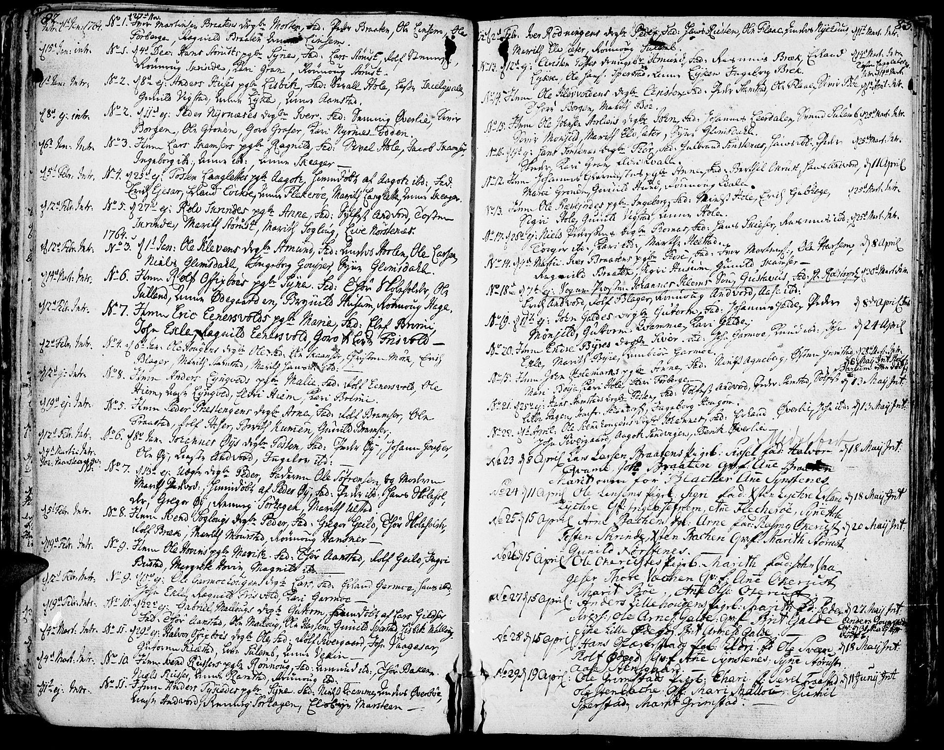 SAH, Lom prestekontor, K/L0002: Ministerialbok nr. 2, 1749-1801, s. 82-83