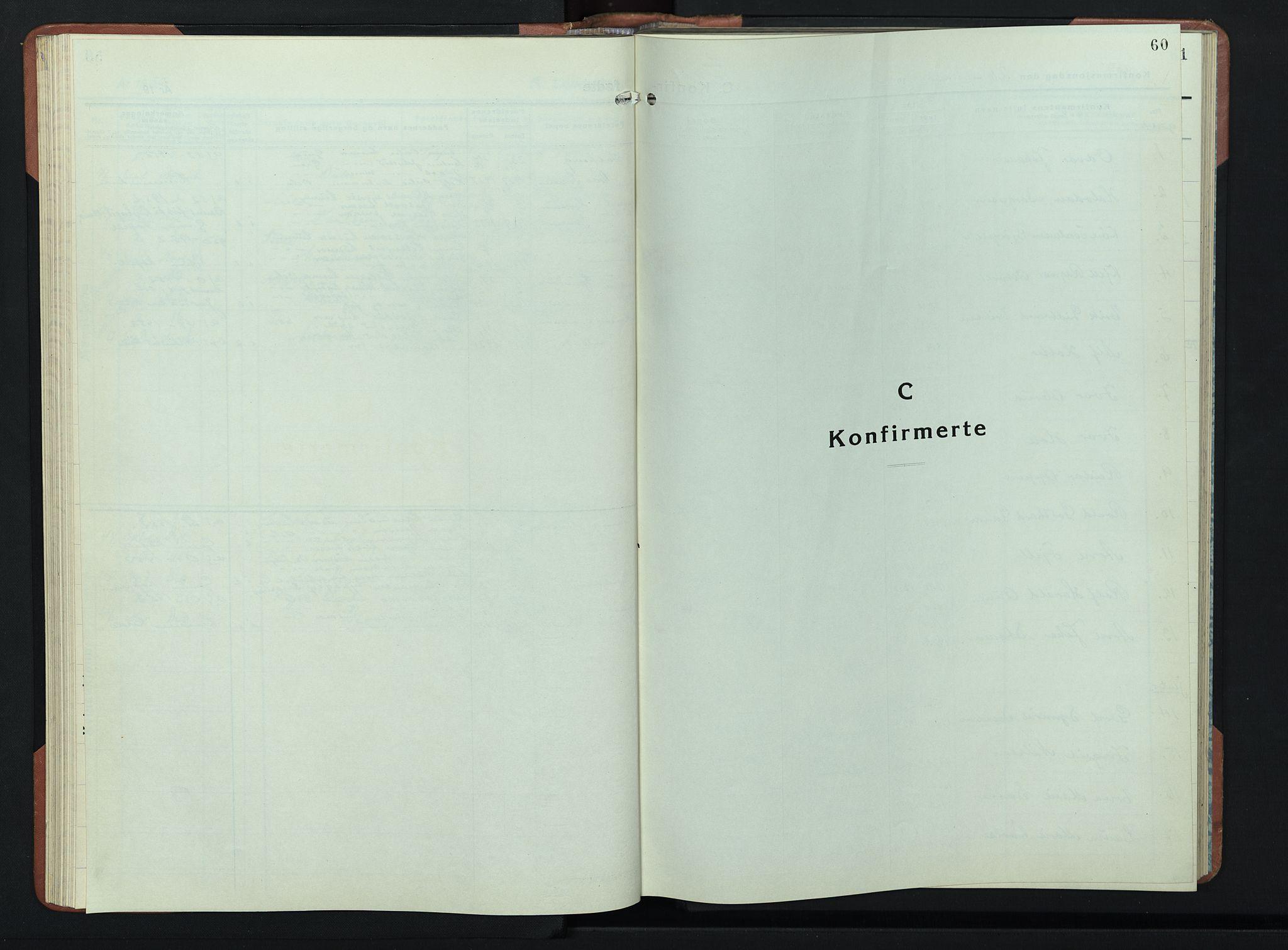 SAH, Lunner prestekontor, H/Ha/Hab/L0004: Klokkerbok nr. 4, 1943-1952, s. 60