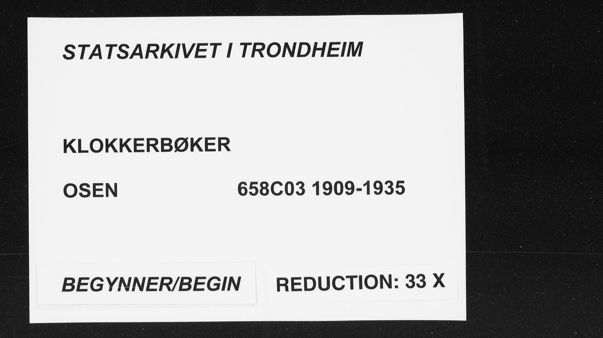SAT, Ministerialprotokoller, klokkerbøker og fødselsregistre - Sør-Trøndelag, 658/L0727: Klokkerbok nr. 658C03, 1909-1935