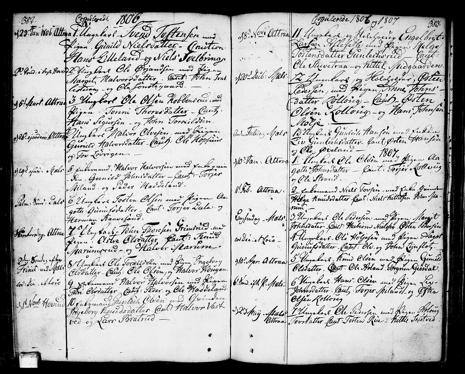 SAKO, Tinn kirkebøker, F/Fa/L0002: Ministerialbok nr. I 2, 1757-1810, s. 382-383