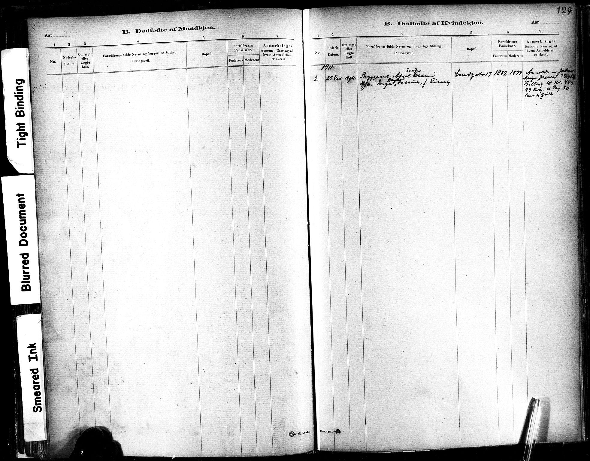 SAT, Ministerialprotokoller, klokkerbøker og fødselsregistre - Sør-Trøndelag, 602/L0119: Ministerialbok nr. 602A17, 1880-1901, s. 129