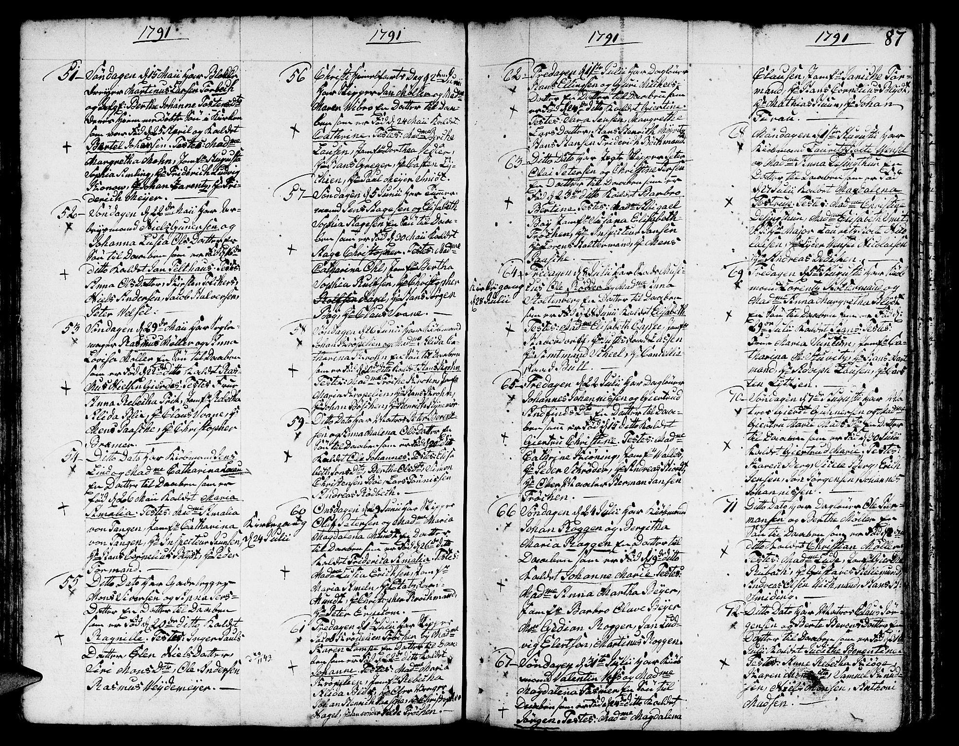 SAB, Nykirken Sokneprestembete, H/Haa: Ministerialbok nr. A 5, 1775-1808, s. 87