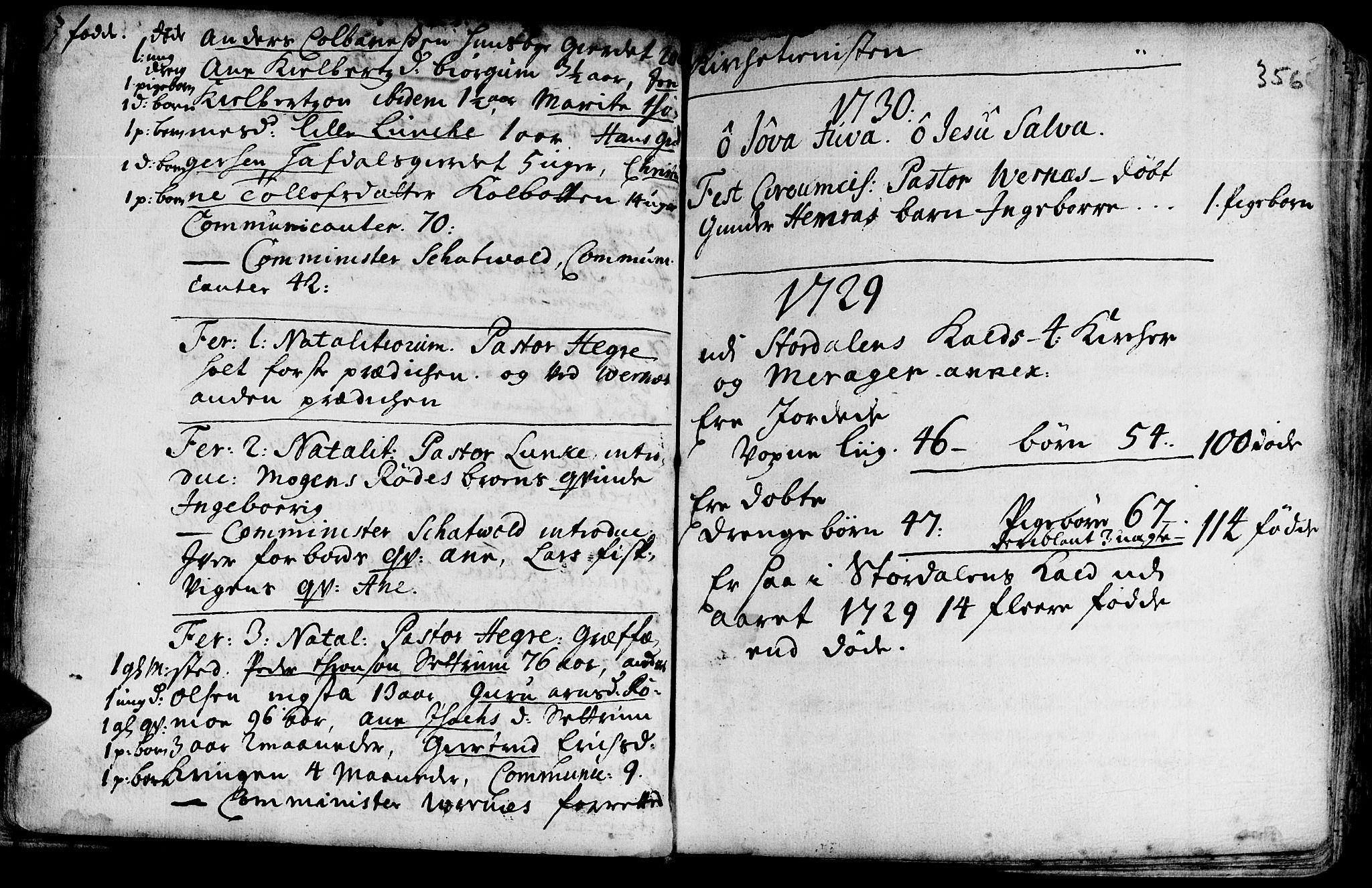SAT, Ministerialprotokoller, klokkerbøker og fødselsregistre - Nord-Trøndelag, 709/L0054: Ministerialbok nr. 709A02, 1714-1738, s. 355-356
