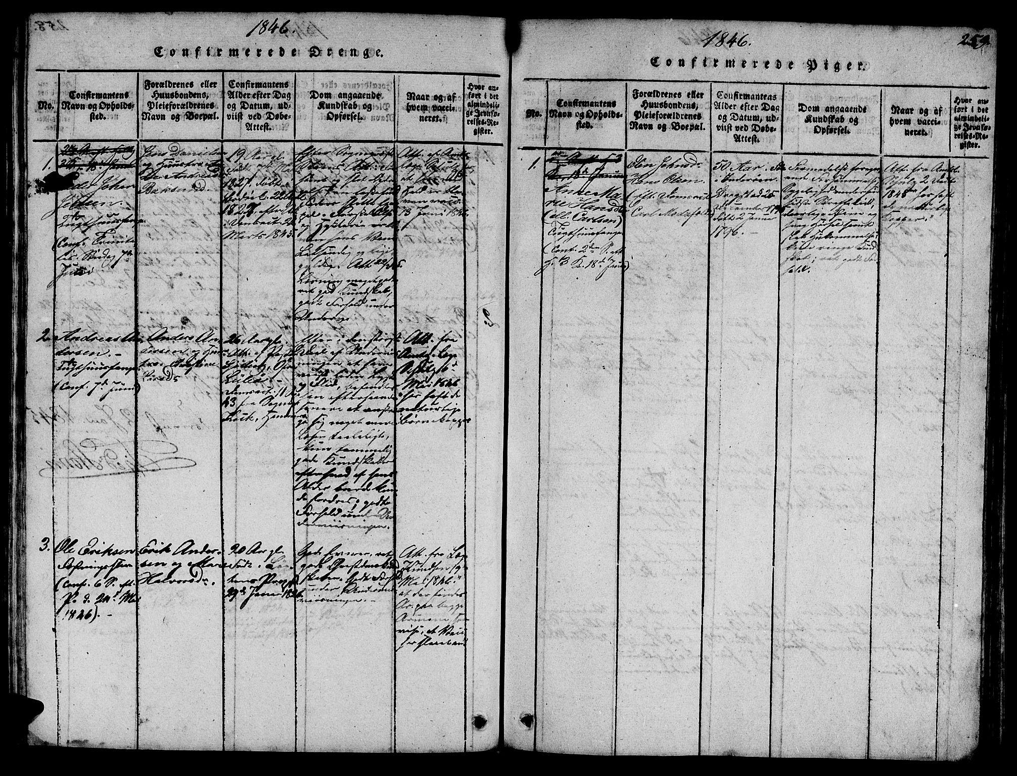 SAT, Ministerialprotokoller, klokkerbøker og fødselsregistre - Sør-Trøndelag, 623/L0478: Klokkerbok nr. 623C01, 1815-1873, s. 259
