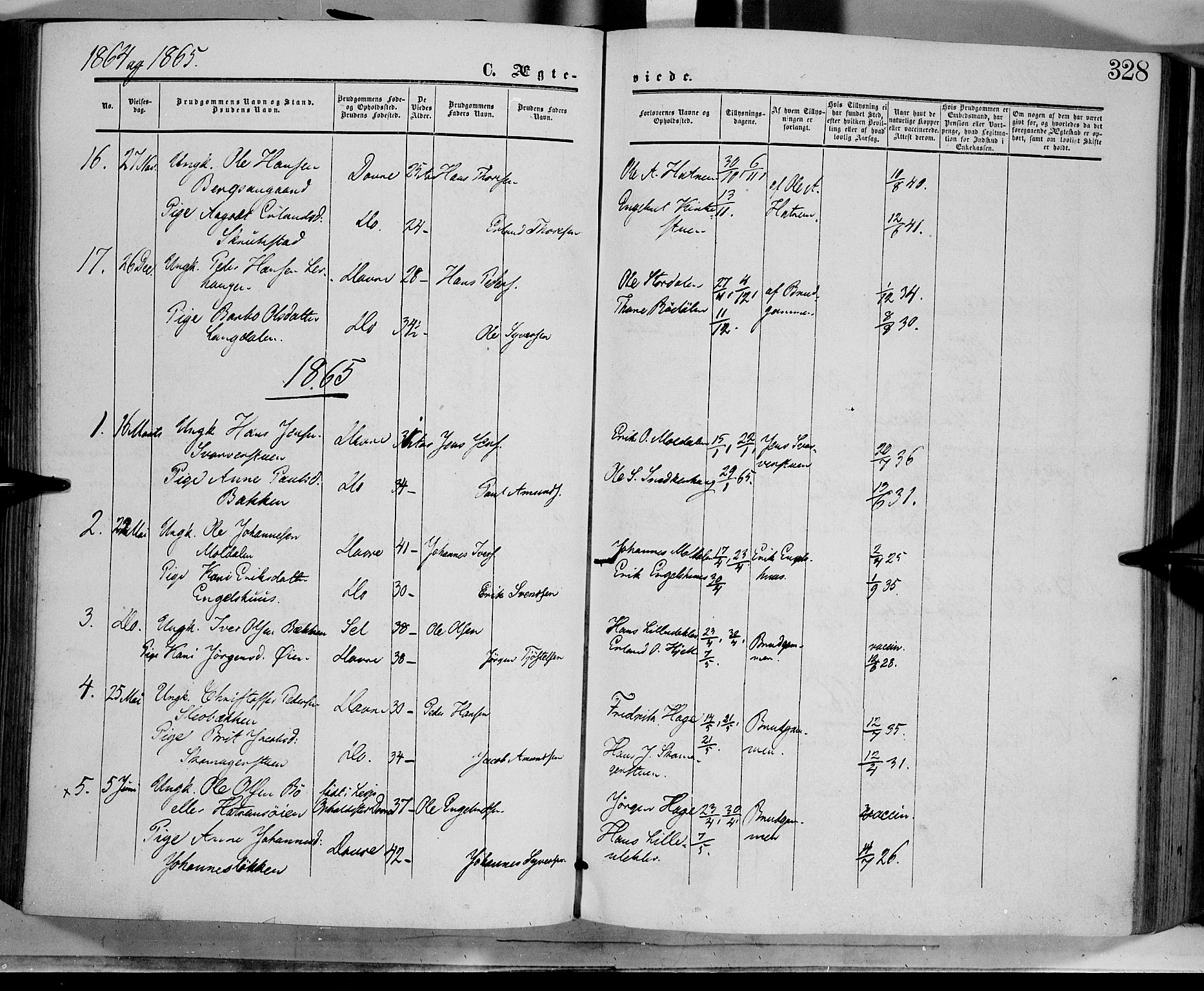 SAH, Dovre prestekontor, Ministerialbok nr. 1, 1854-1878, s. 328